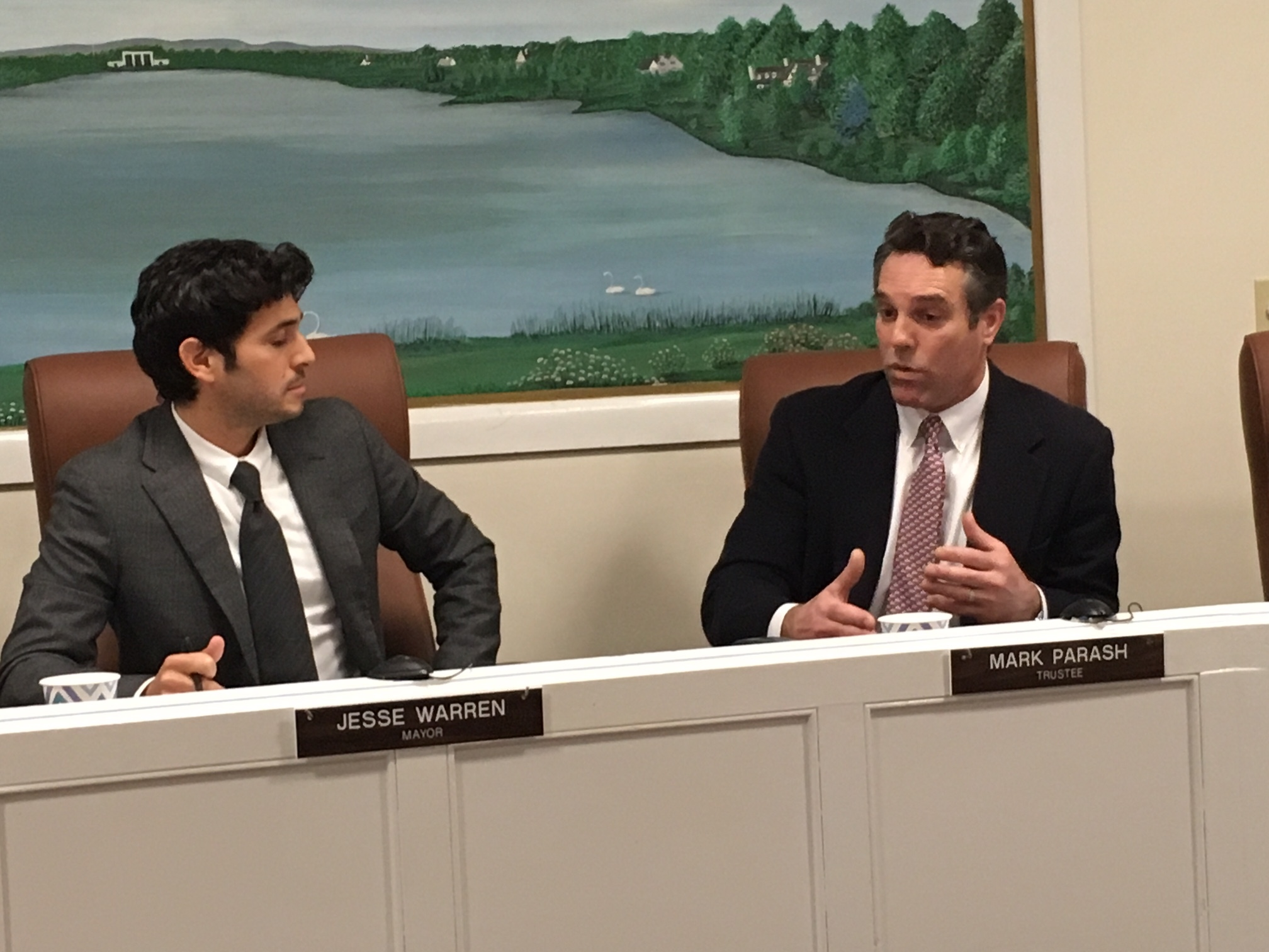 Southampton Village Board member Mark Parash (right) dubbed the pilot program