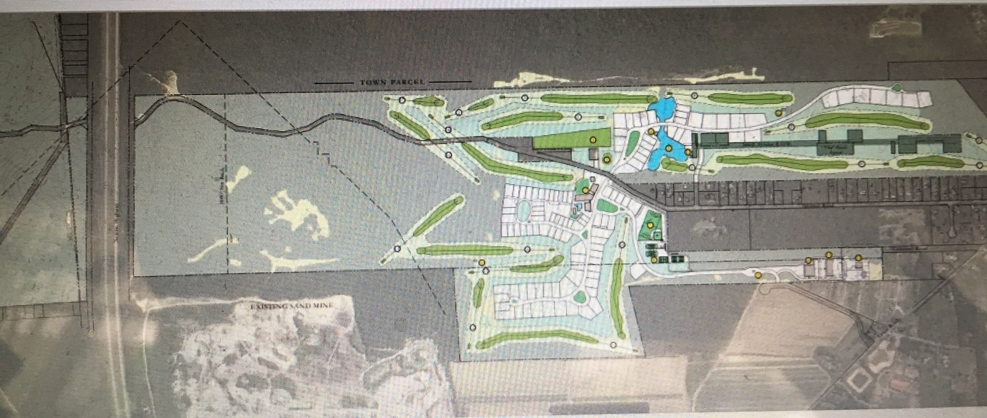 A revised map of the Lewis Road Planned Residential Development.
