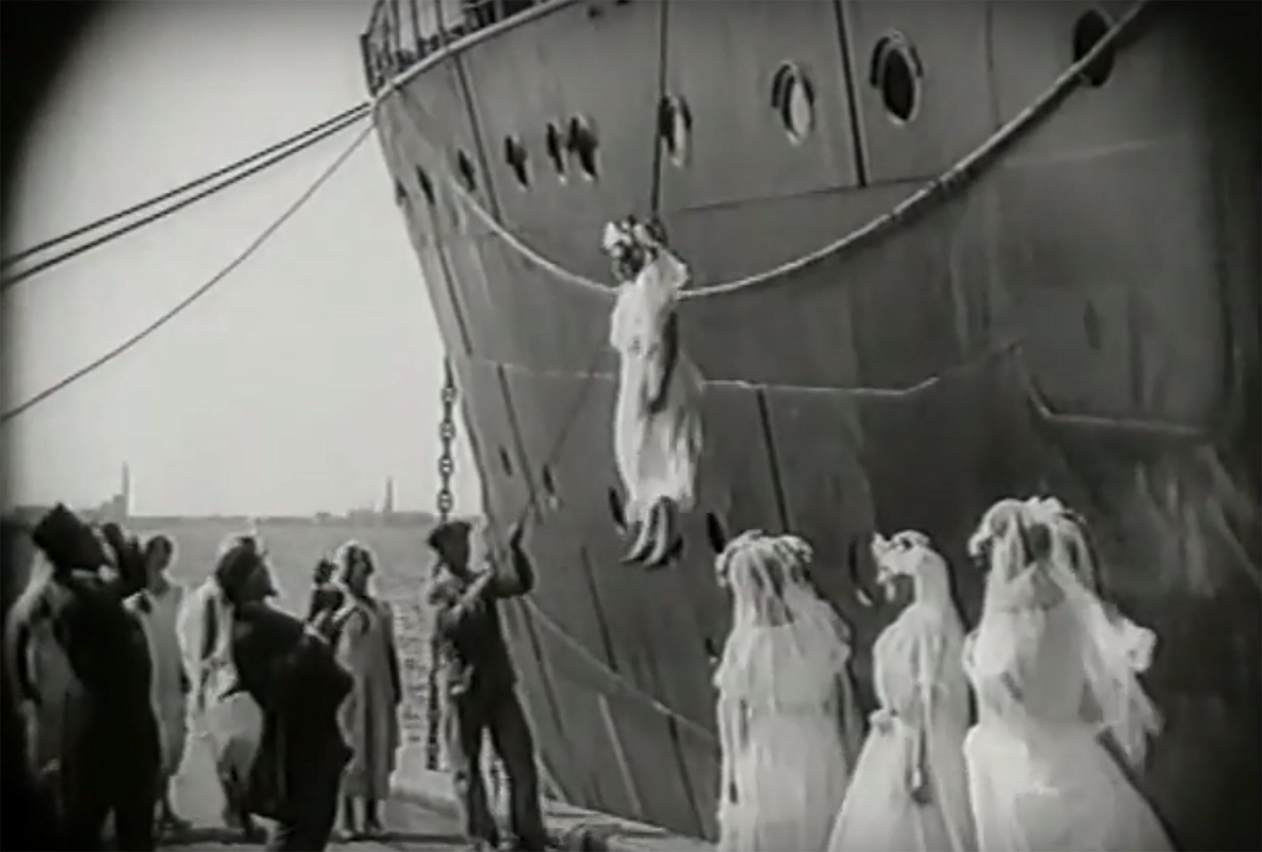 Screenshot from a 1925 silent film called