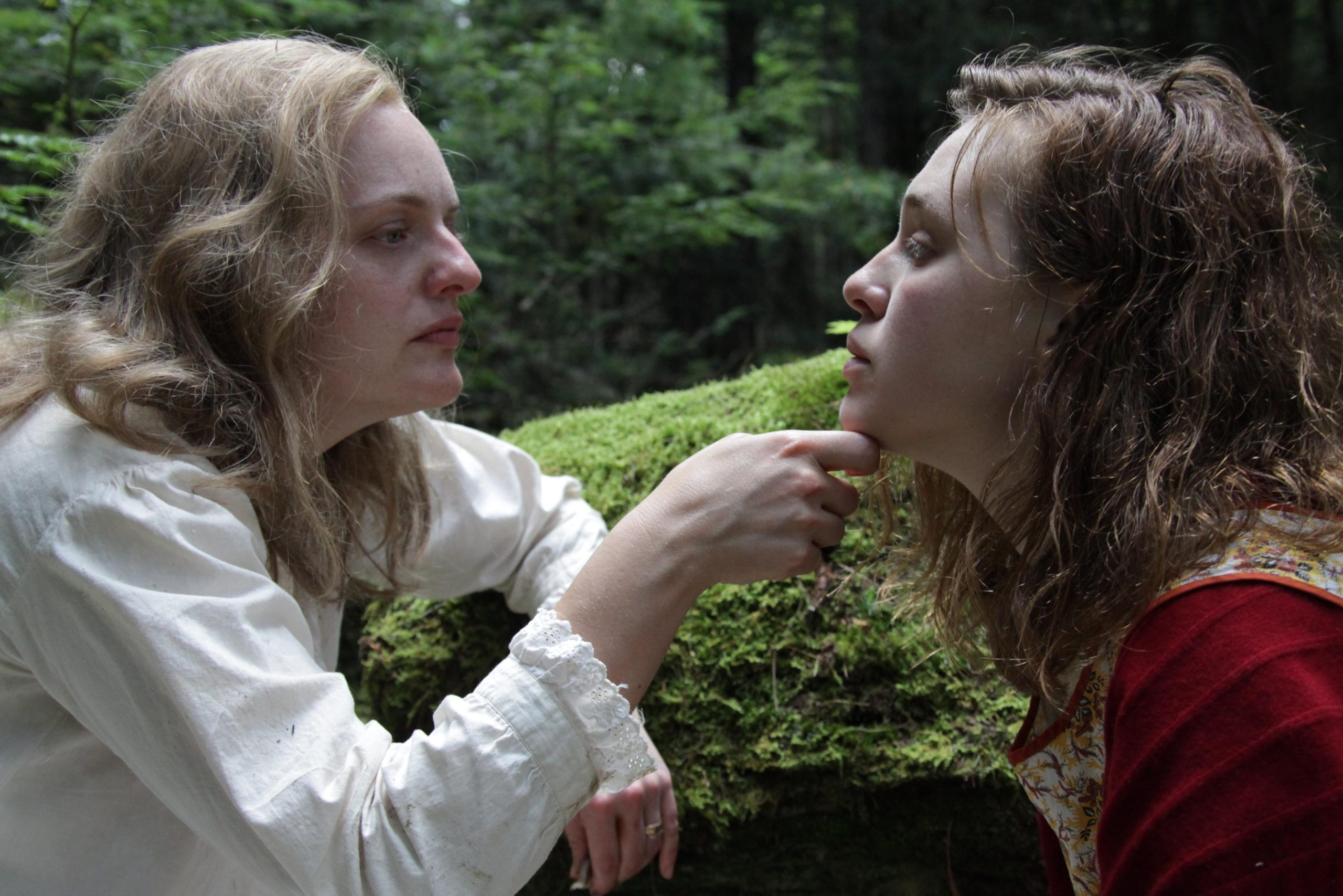 Elisabeth Moss, left, and Odessa Young in