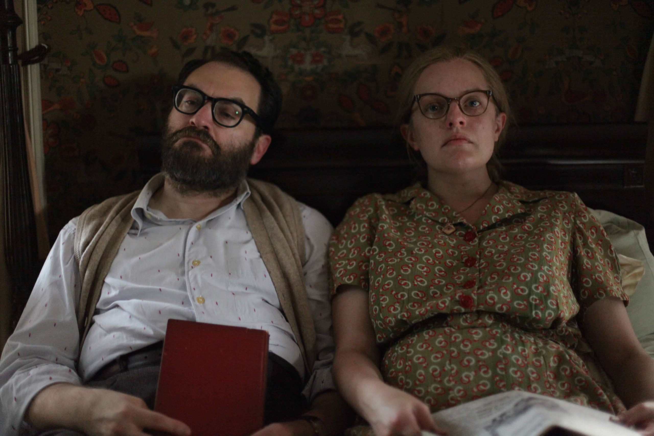 Michael Stuhlbarg and Elisabeth Moss as Stanley Hyman and Shirley Jackson in the new film