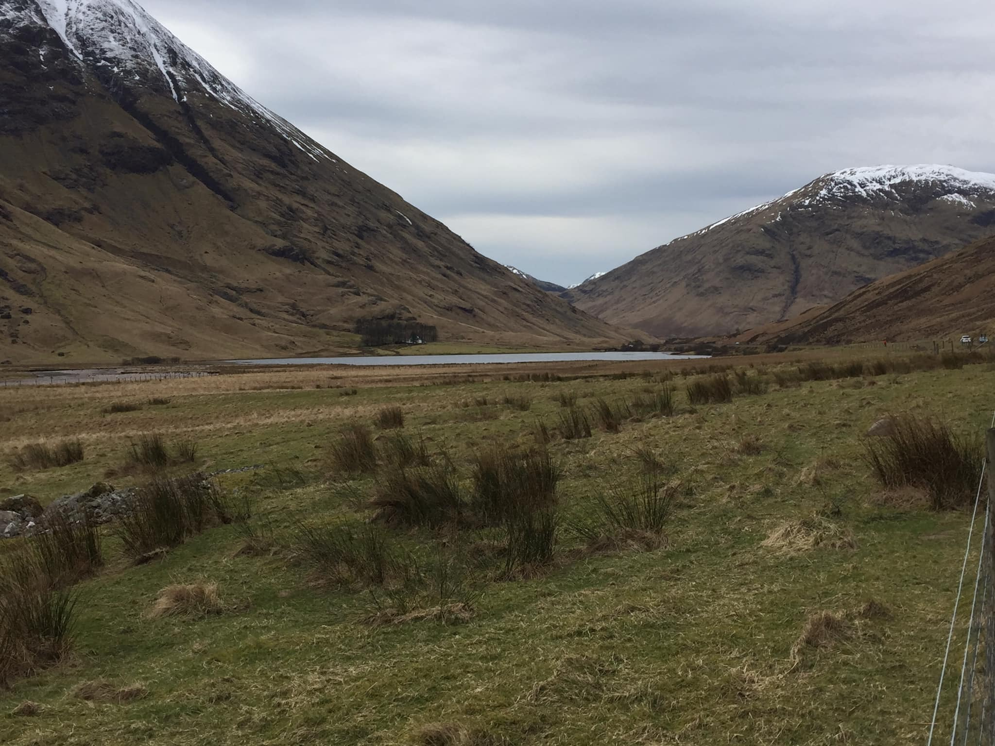 A scene from Glencoe, Scotland, not far from where Sag Harbor native Ben Lindstrom-Ives is sheltering in place during the COVID-19 pandemic.