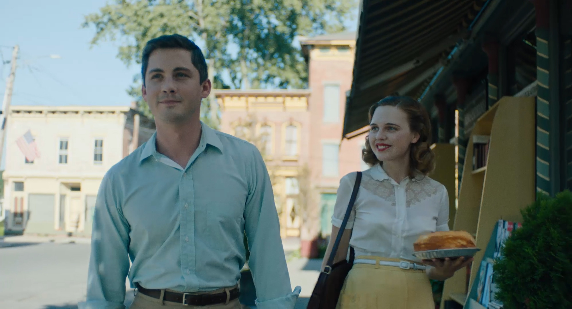 Logan Lerman and Odessa Young in