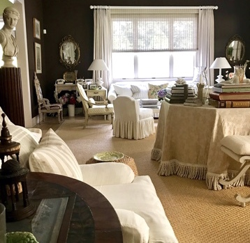 This Southampton living room, by the late designer Mark Hampton for his own family, still stands as a timelessly chic example of Hamptons style.