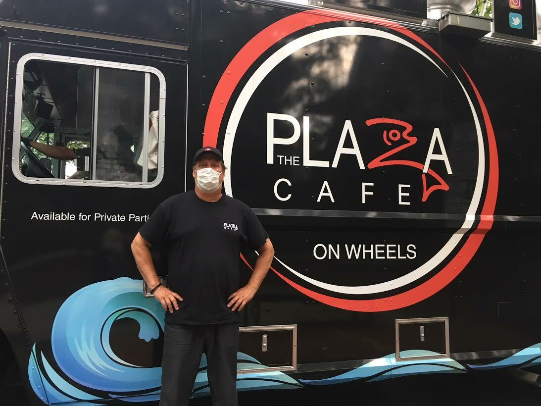 Doug Gulija brought his food truck to the corner of Jobs and Main.  KITTY MERRILL