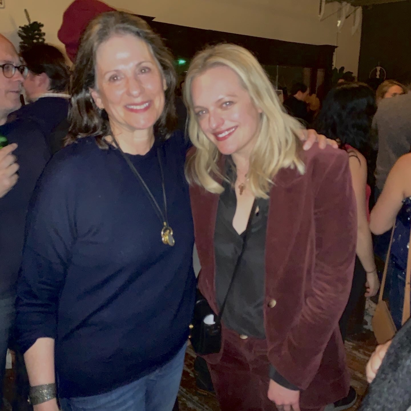 Author Susan Scarf Merrell, left, with actress Elisabeth Moss, star of