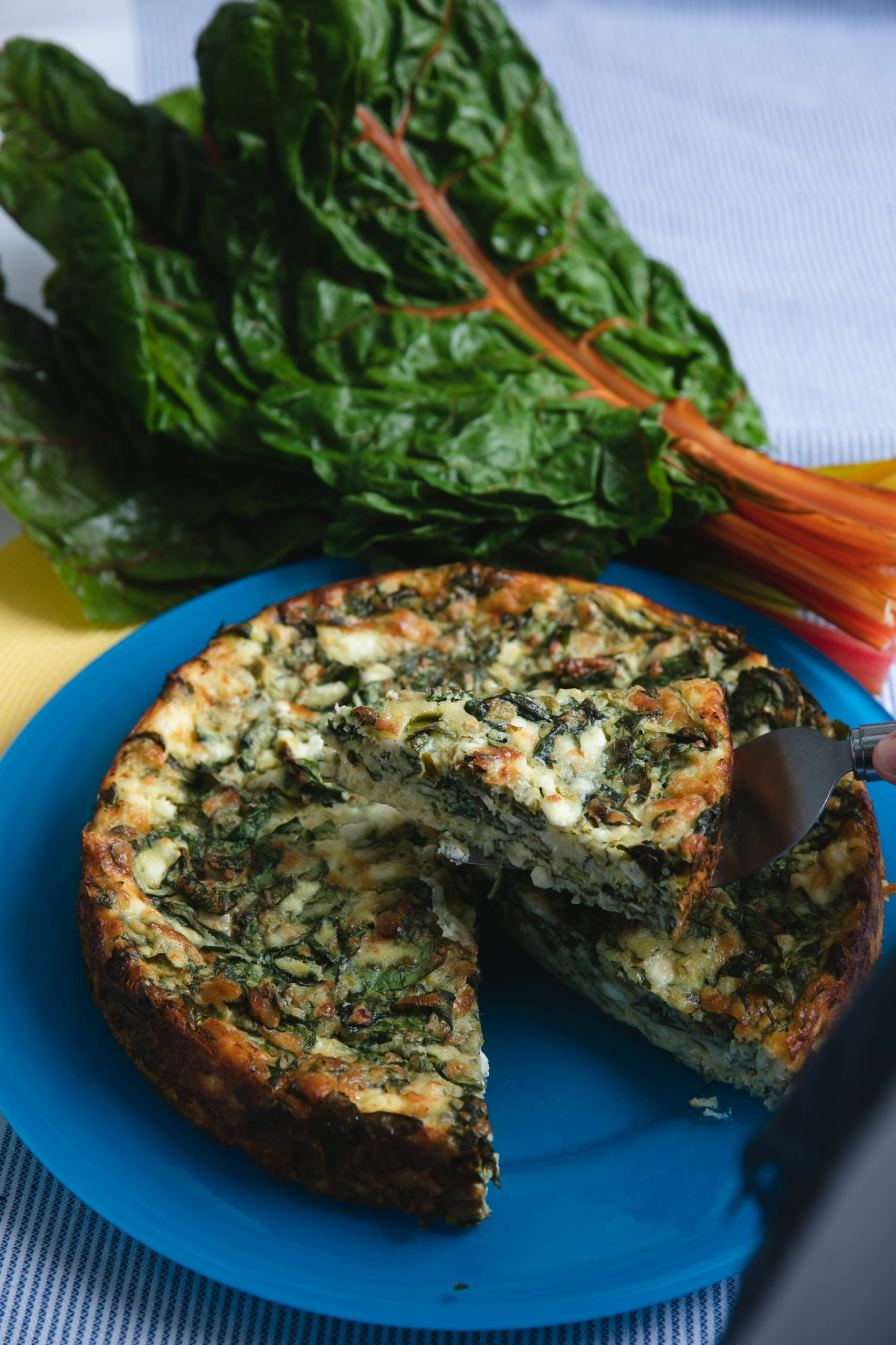 Swiss Chard and Chile Frittata.