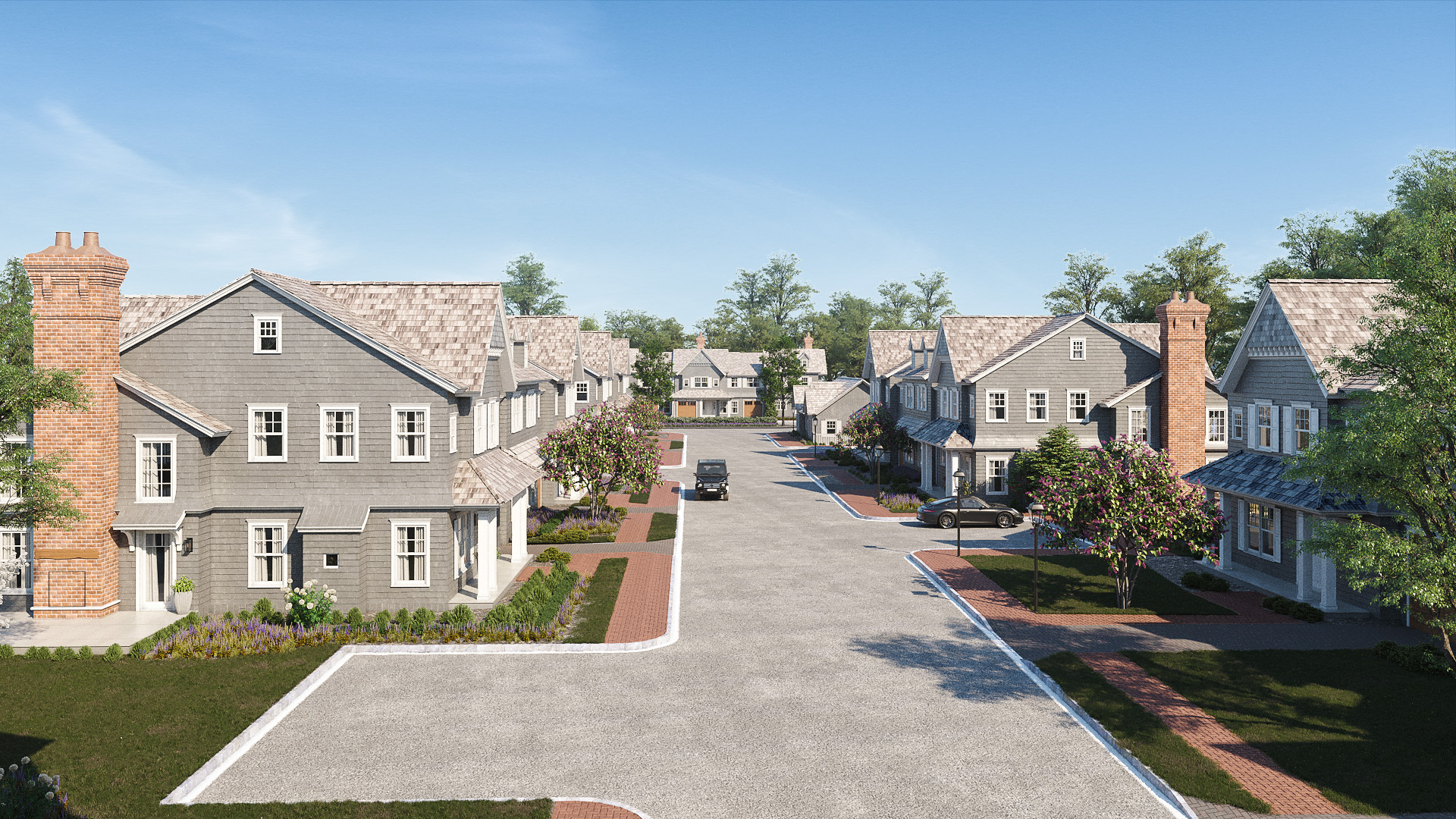 A streetscape rendering of The Latch at Southampton Village.