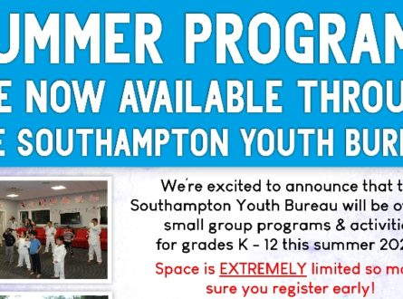 Summer Programs Available Through The Southampton Youth Bureau!