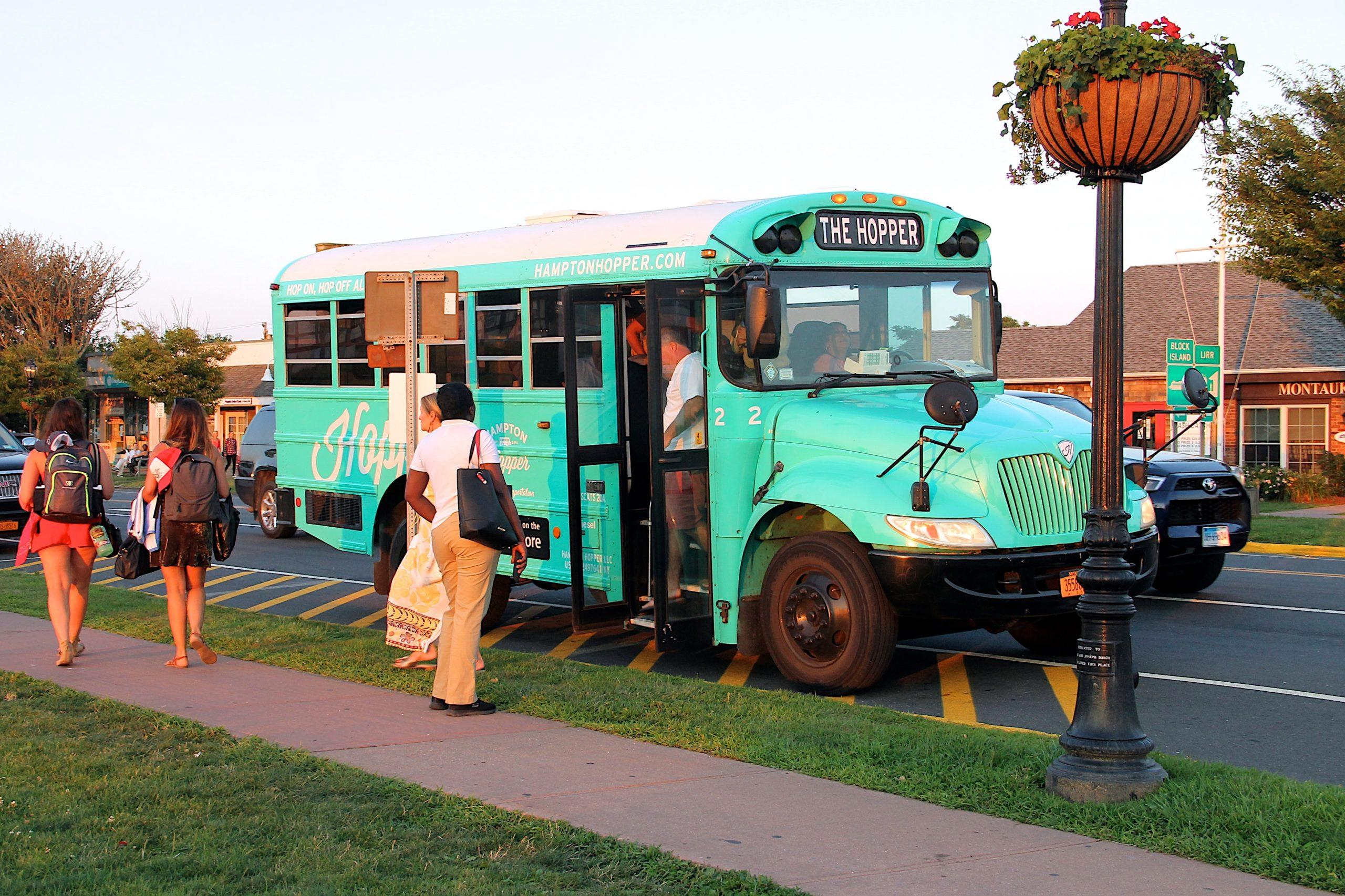 The Hampton Hopper's free bus service in Montauk will return this year.