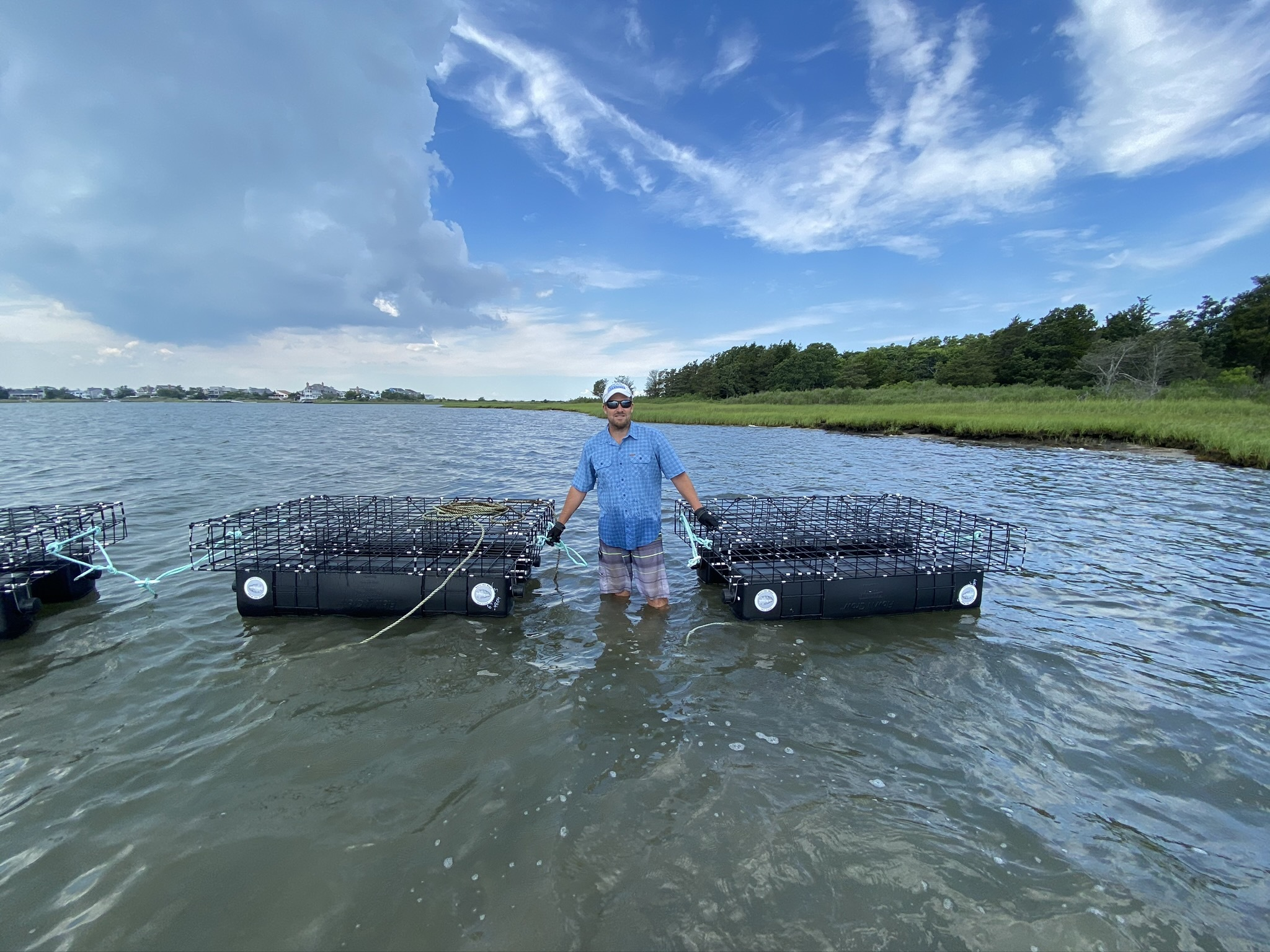 Peter Topping, the Peconic Baykeeper, and the oyster nursery