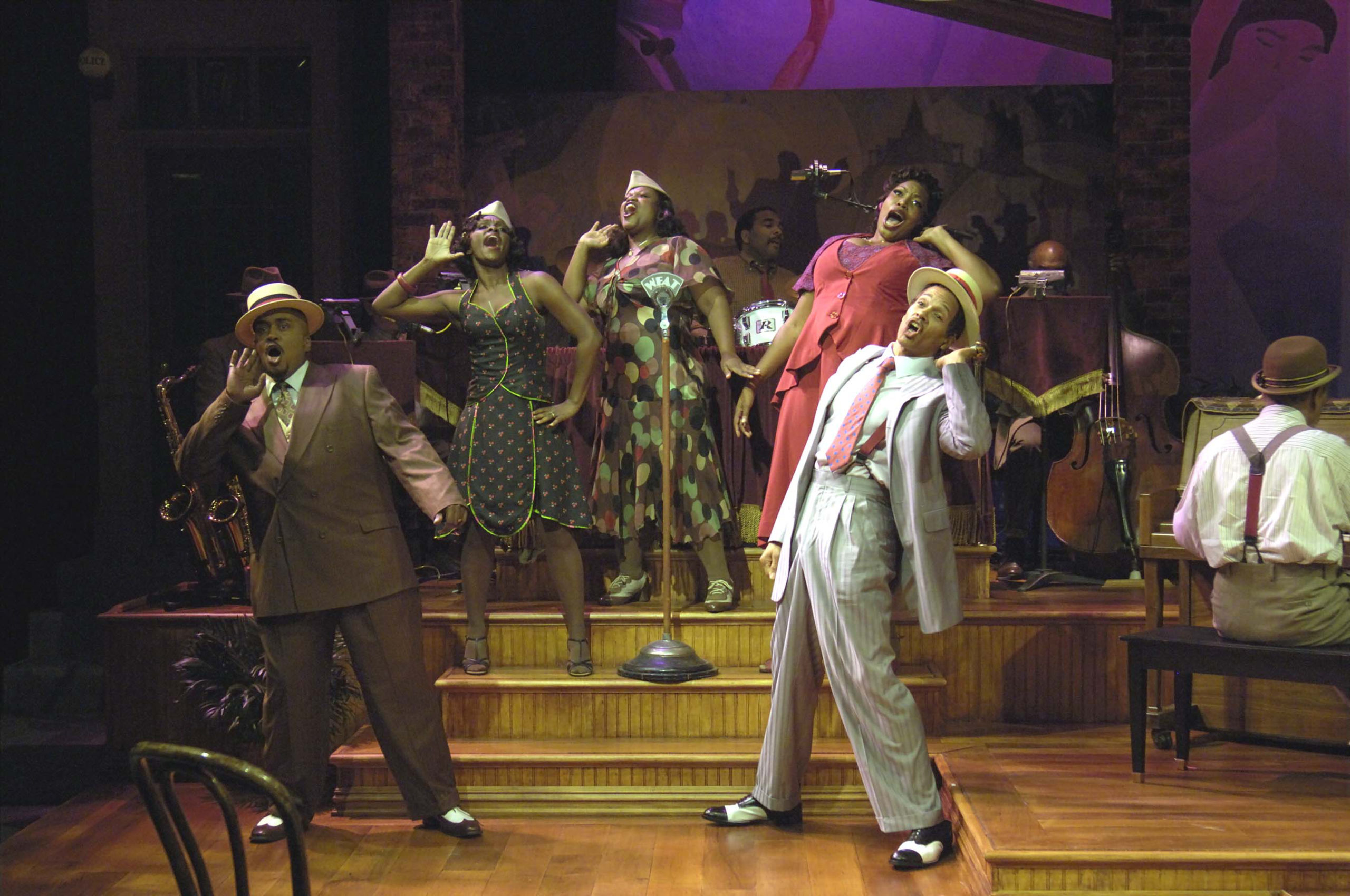 From left, James Alexander, Q. Smith, Aurelia Williams, Monica Patton and Jim Weaver in the Bay Street Theter 2008 production of