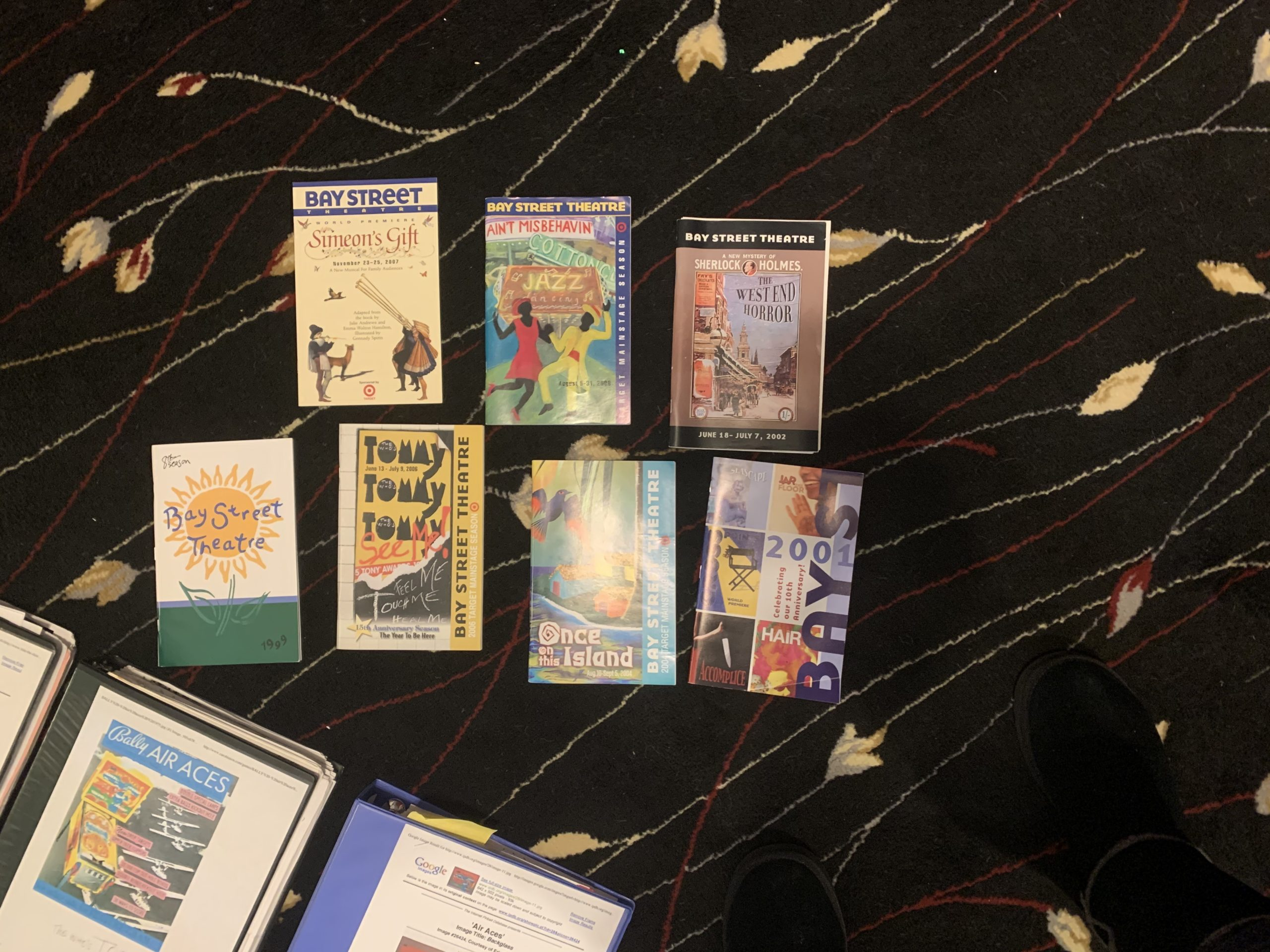 Bay Street Theater programs from shows Marcia Milgrom Dodge directed over the years.