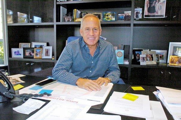 Joe Farrell in his Bridgehampton office. FILE PHOTO