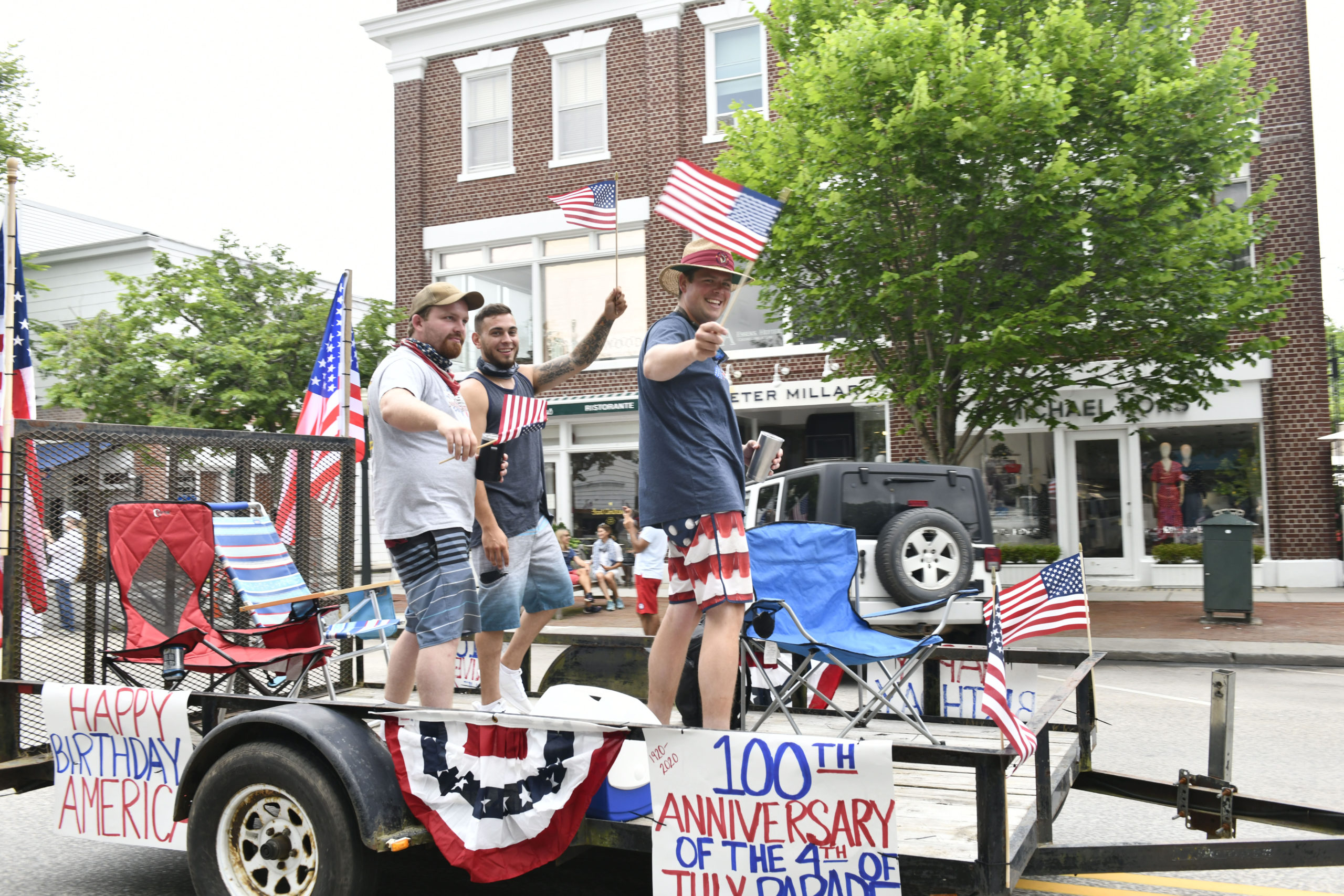 The parade in Southampton Village on Saturday morning.