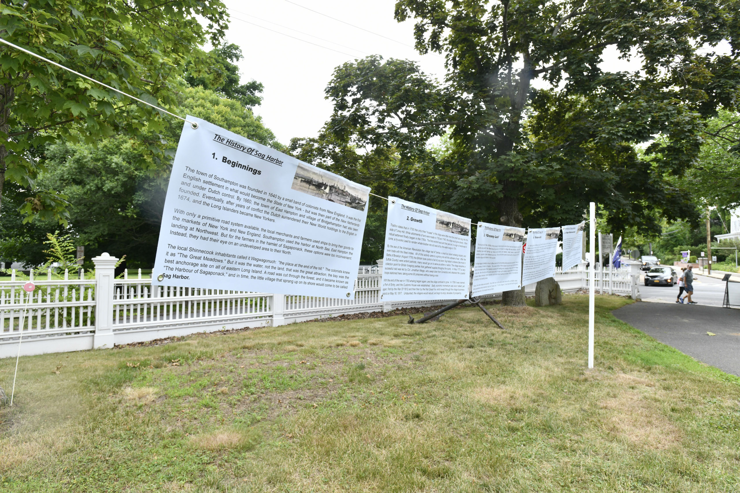 The Sag Harbor Whaling Museum opened its season with a selection of outdoor exhibitions on July 9.  DANA SHAW