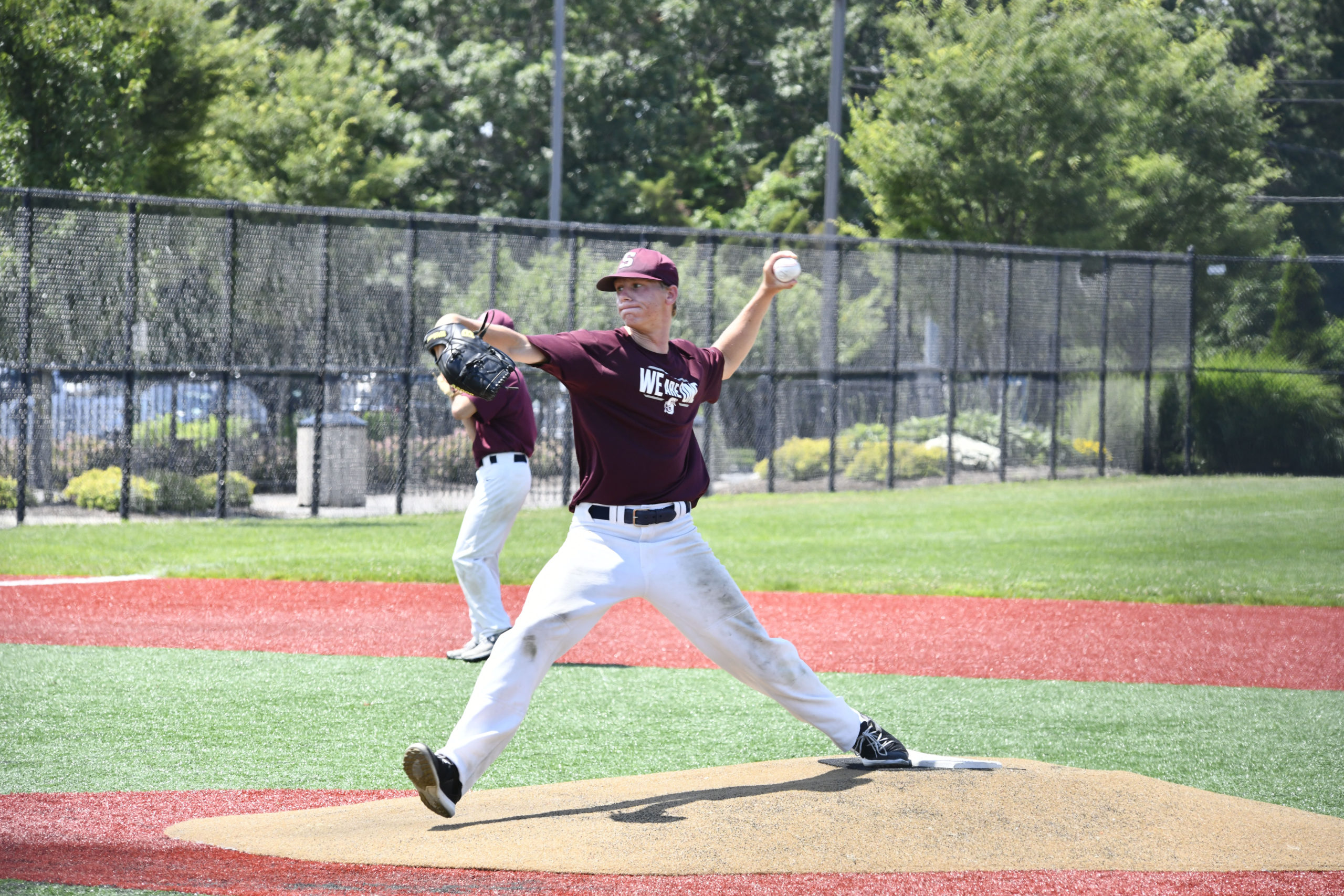 The Southampton and Pierson High School baseball teams faced off against each other in Moriches on Monday. DANA SHAW