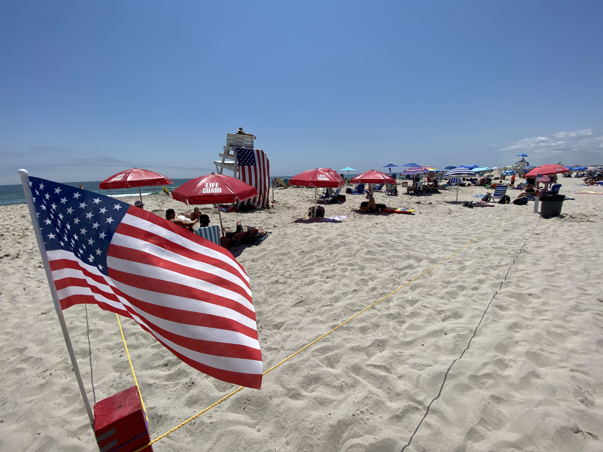 Ponquogue Beach in Hampton Bays on Saturday.  DANA SHAW