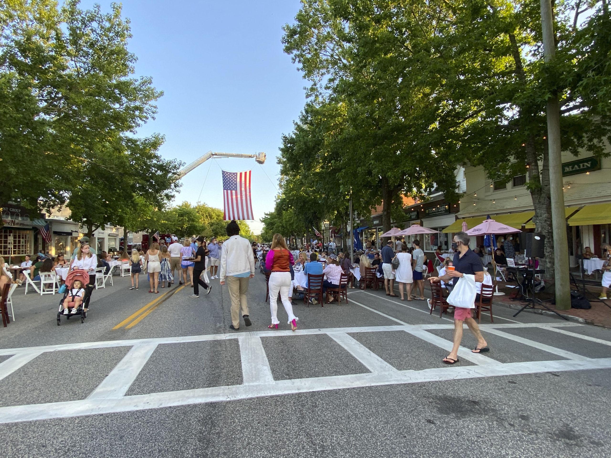 Southampton Village Main Street on July 4.   DANA SHAW