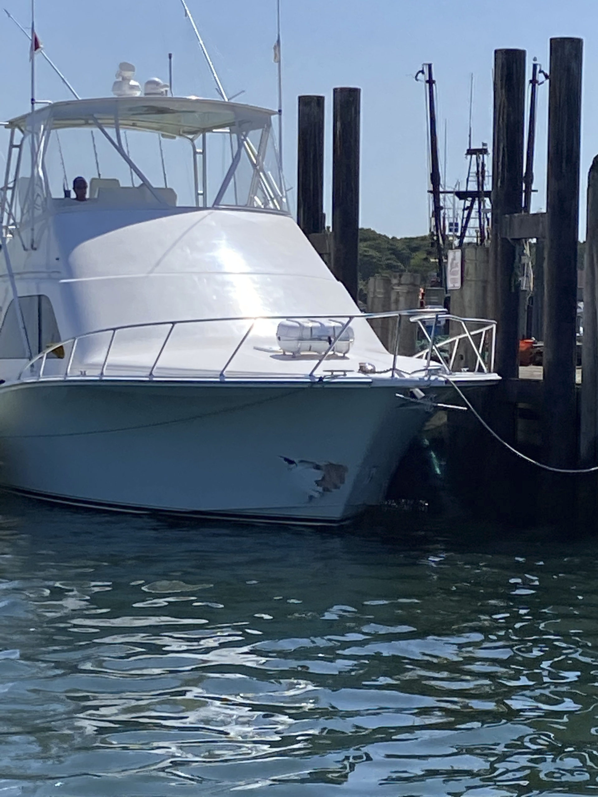 """A pleasure craft out of Connecticut, named """"Chaos,"""" struck and sunk an East Hampton dragger on Saturday."""