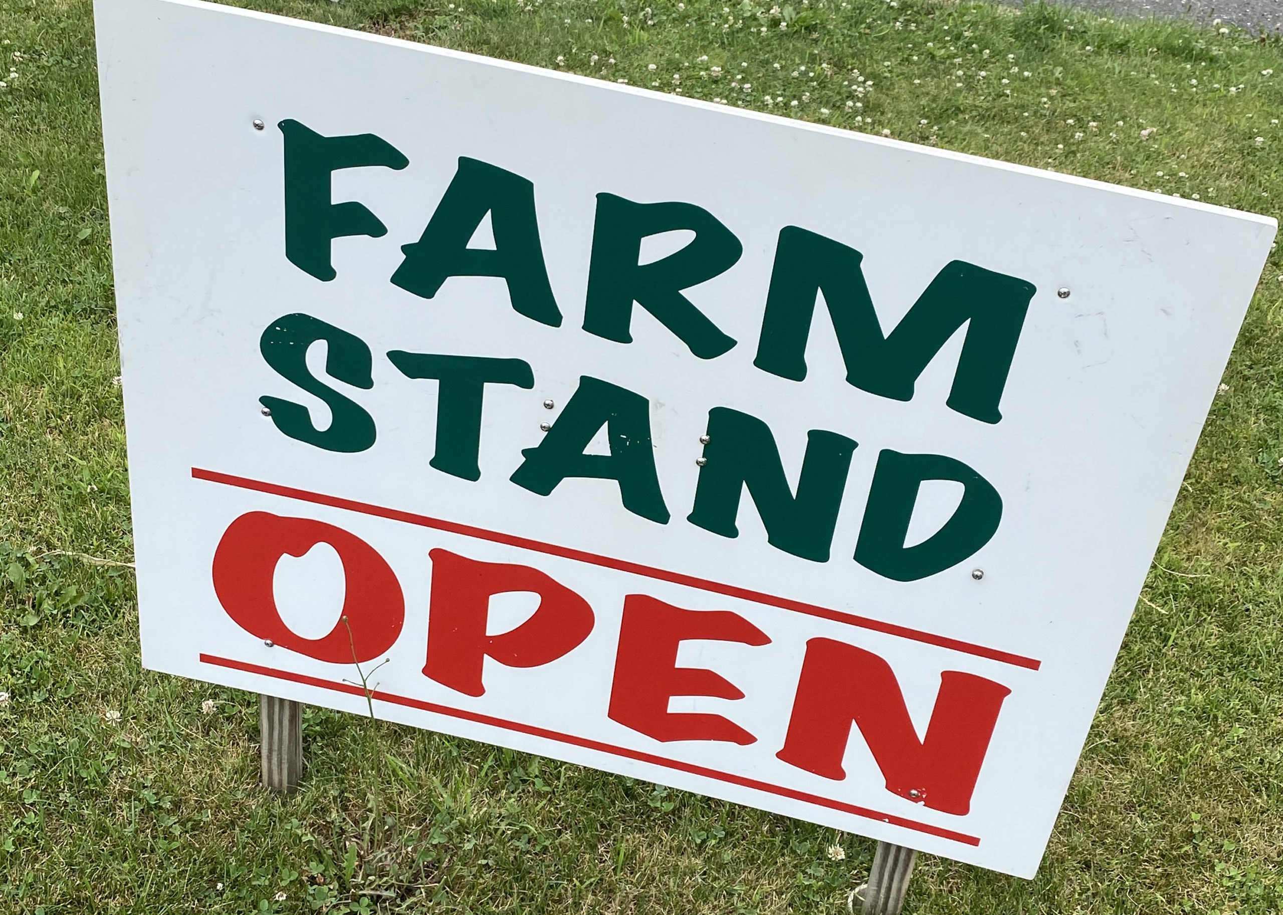 Farmstands are open.  STEVEN STOLMAN