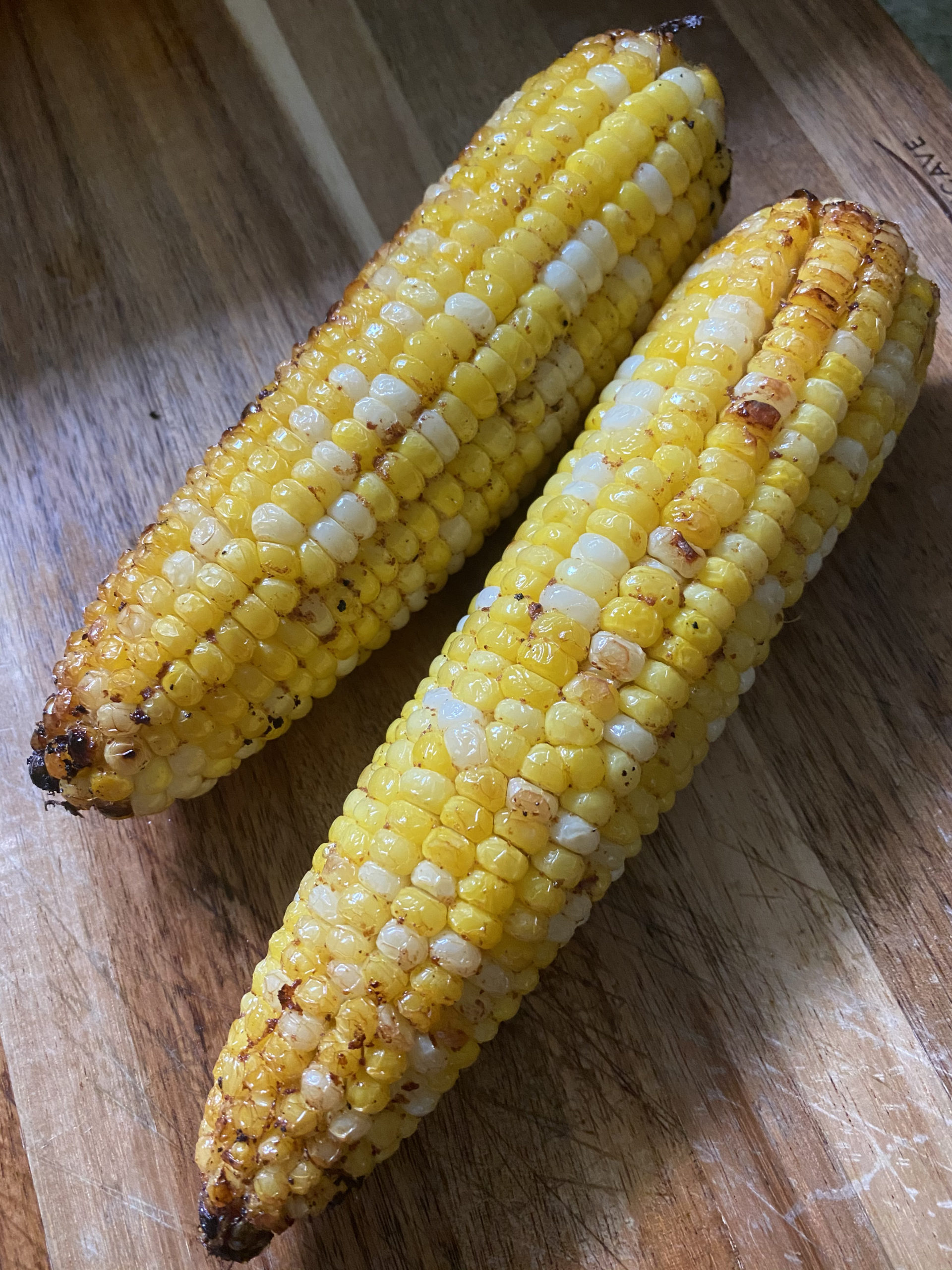 Grilled chili corn. STEVEN STOLMAN