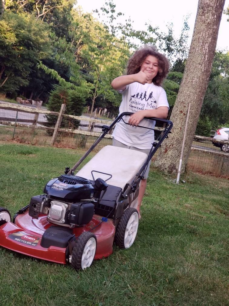 A man and his mower