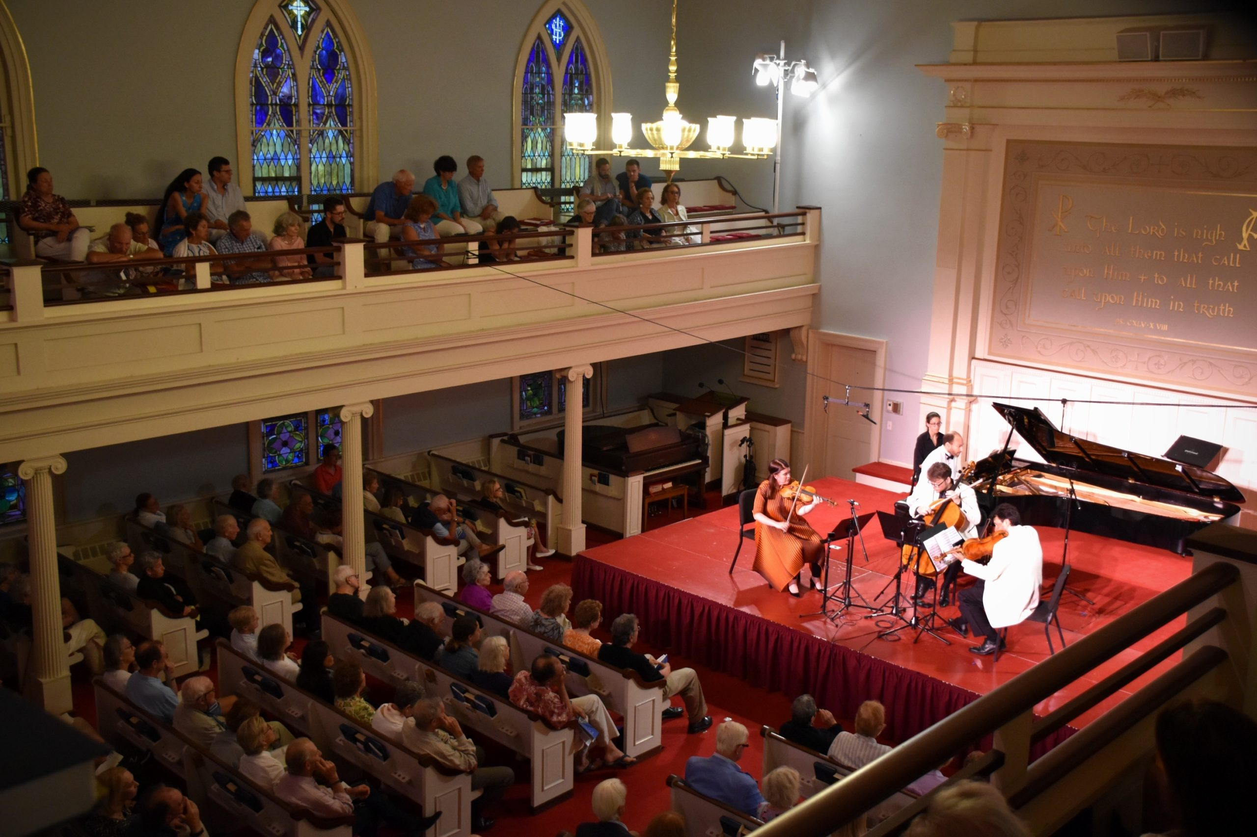 Mendelssohn Piano Quartet at the Bridgehampton Presbyterian Church during a previous chamber music festival.