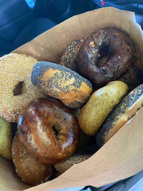 Bagels from Goldber's that will be delivered to BHCCRC.