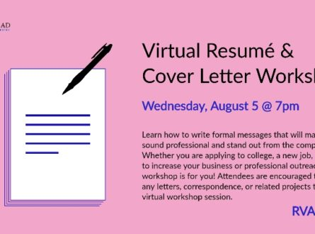 Virtual Resume and Cover Letter Workshop