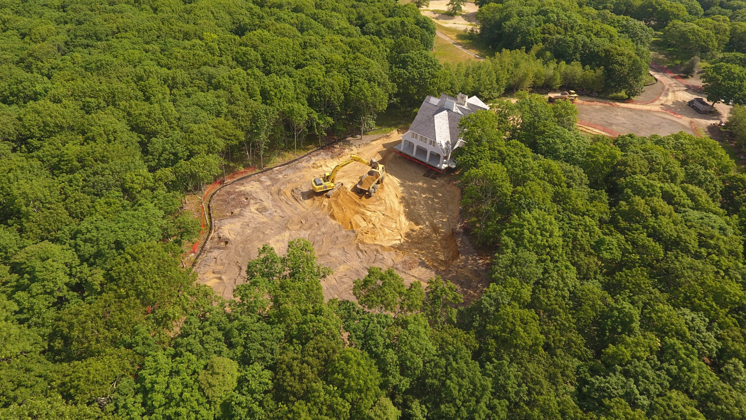 The former home of architect Francis Fleetwood is being relocated in Amagansett after the new owner dropped a dispute with East Hampton Town over the ownership of a