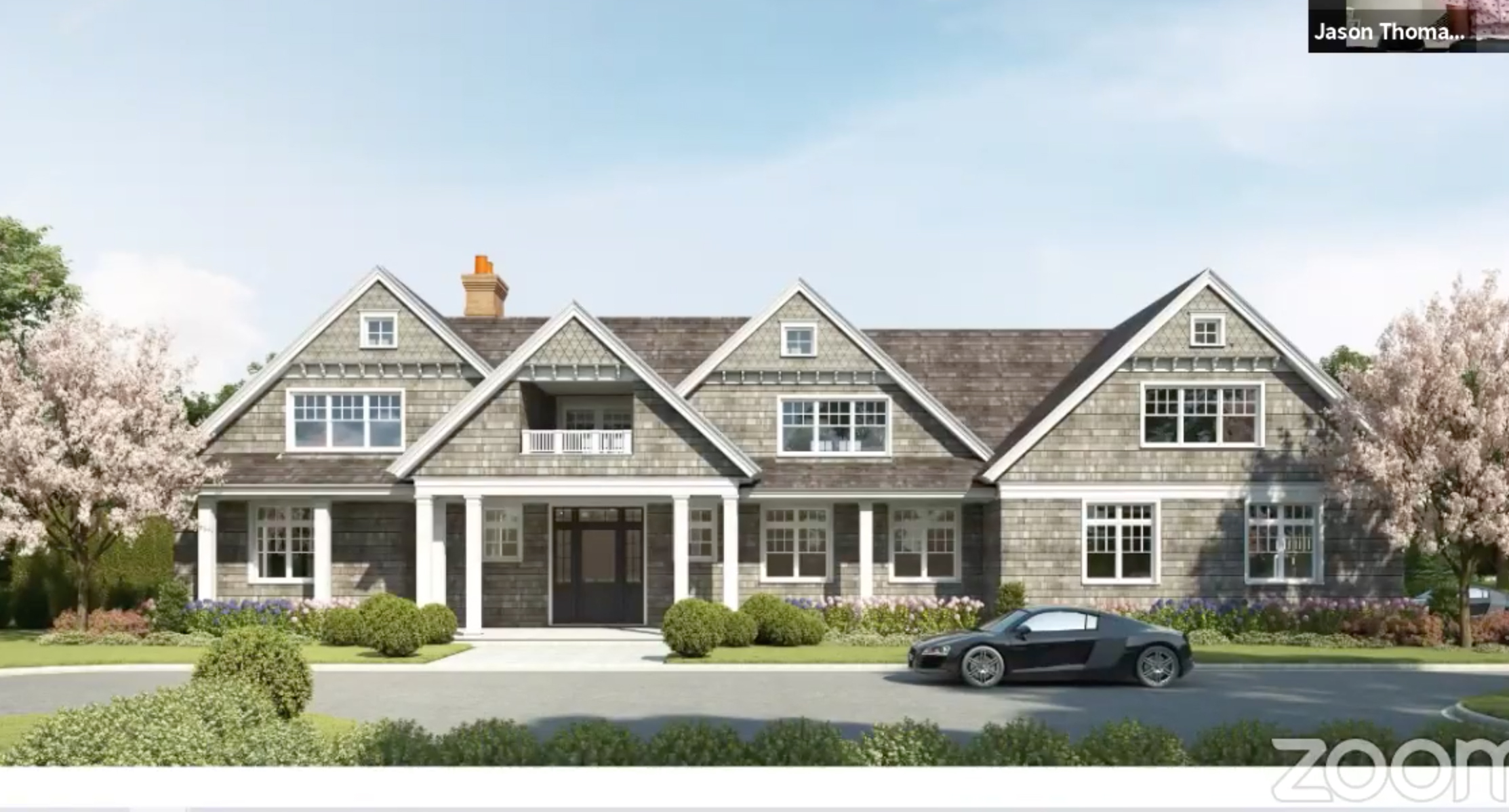 Architect Jason Poremba presented plans for 354 Madison Street to the Sag Harbor Village Board of Historic Preservation and Architectural Review on July 23.
