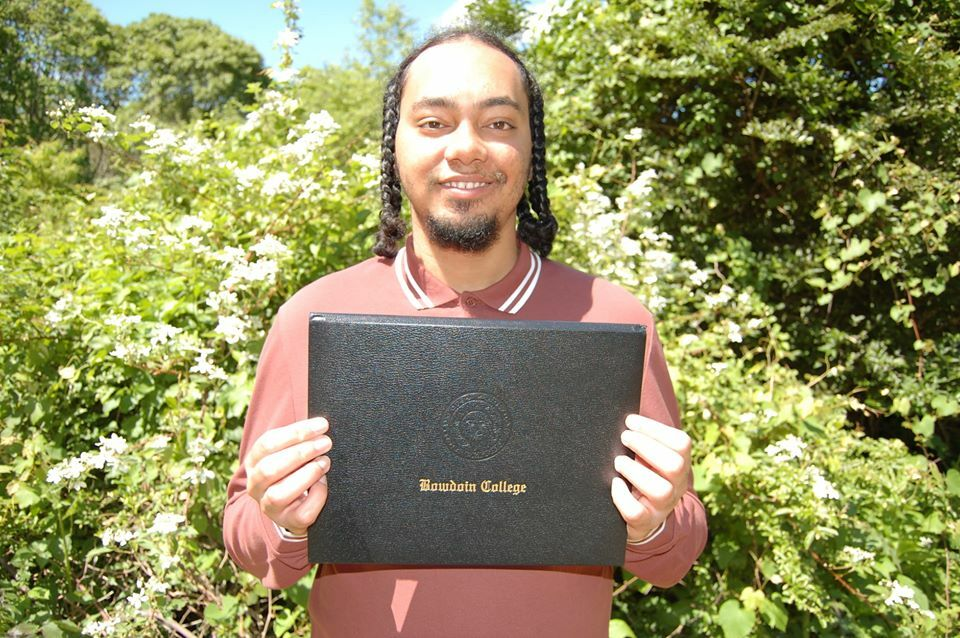 Tribal member Sebastian Hunter-Cuyjet finished his senior year at Bowdoin College remotely in the spring, and will head to Detroit to take a job with Teach For America this fall.