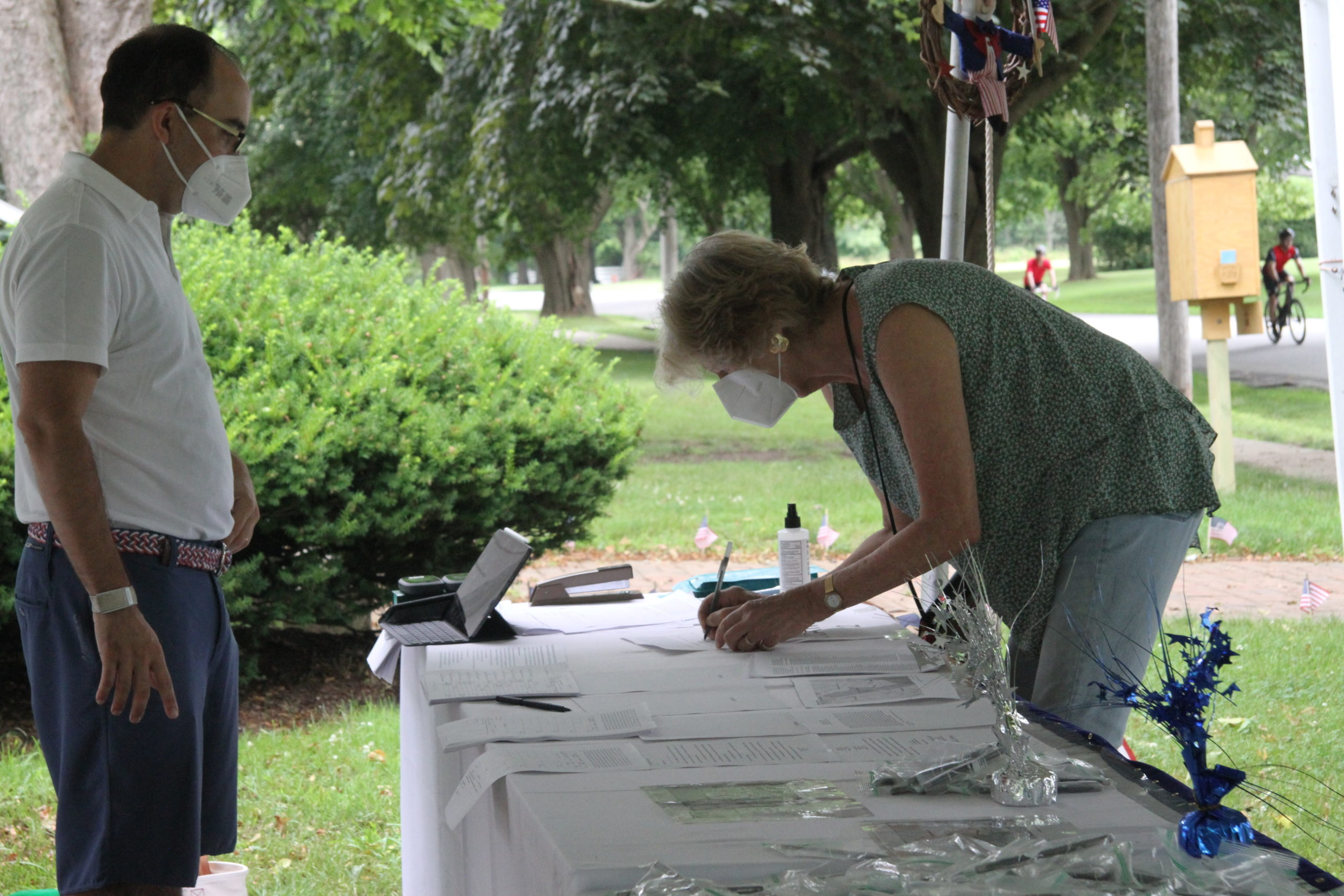 Members of the Citizens for the Preservation of Wainscott gathered signatures on a petition to incorporate the hamlet into a village over the Fourth of July weekend.