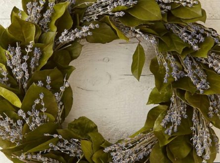 Lavender & Lemon Leaf Wreath Workshop with Diana Conklin