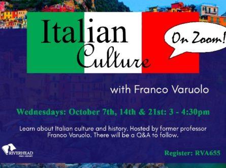 Italian Culture on Zoom