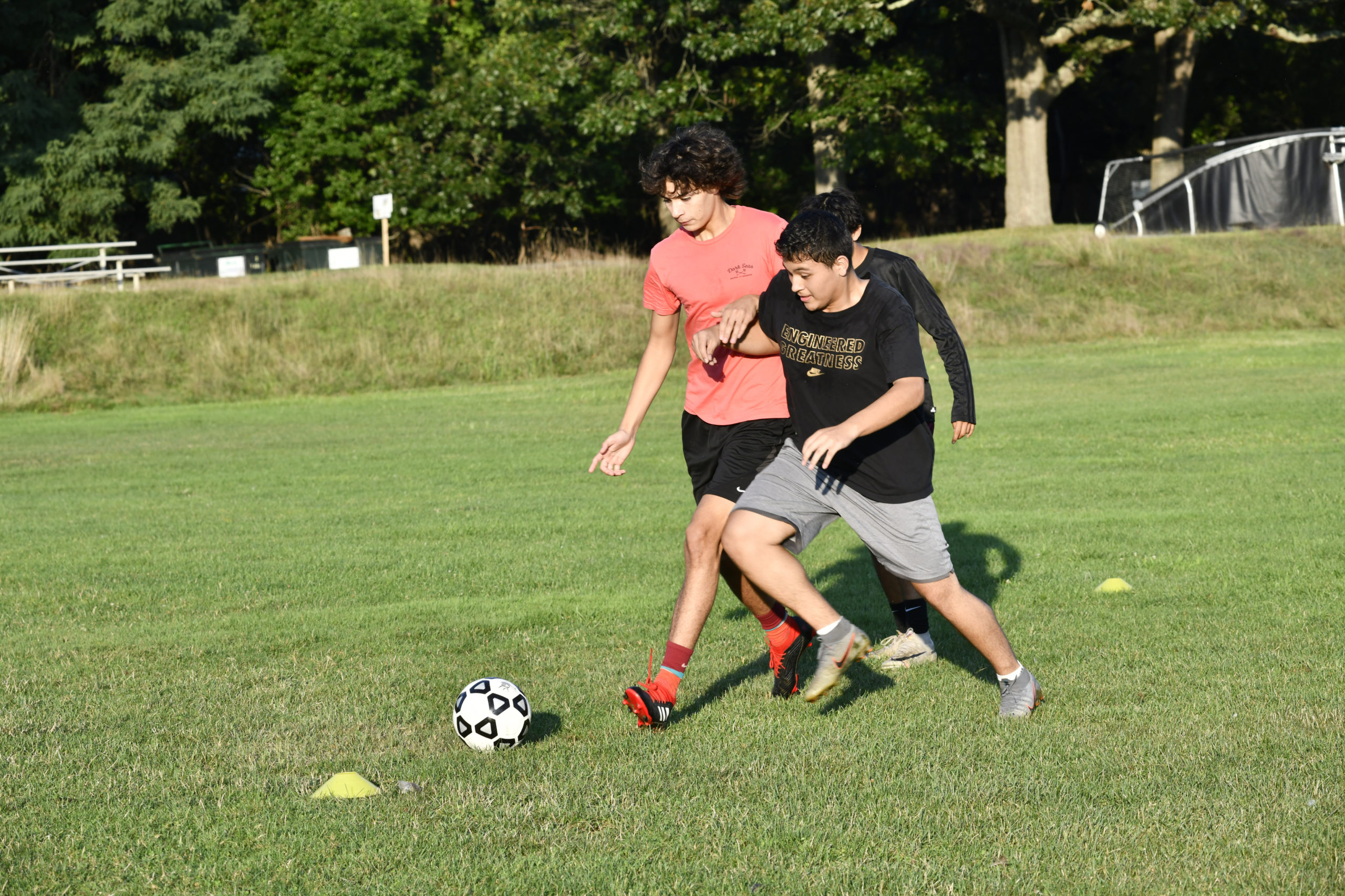 Players practice at Mashashimuet Park in Sag Harbor on Wednesday, August 19.  DANA SHAW