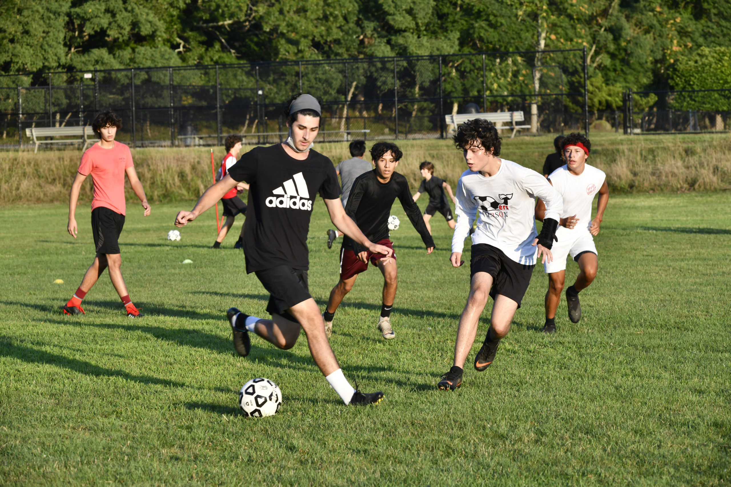 Players practice at Mashashimuet Park in Sag Harbor  DANA SHAW