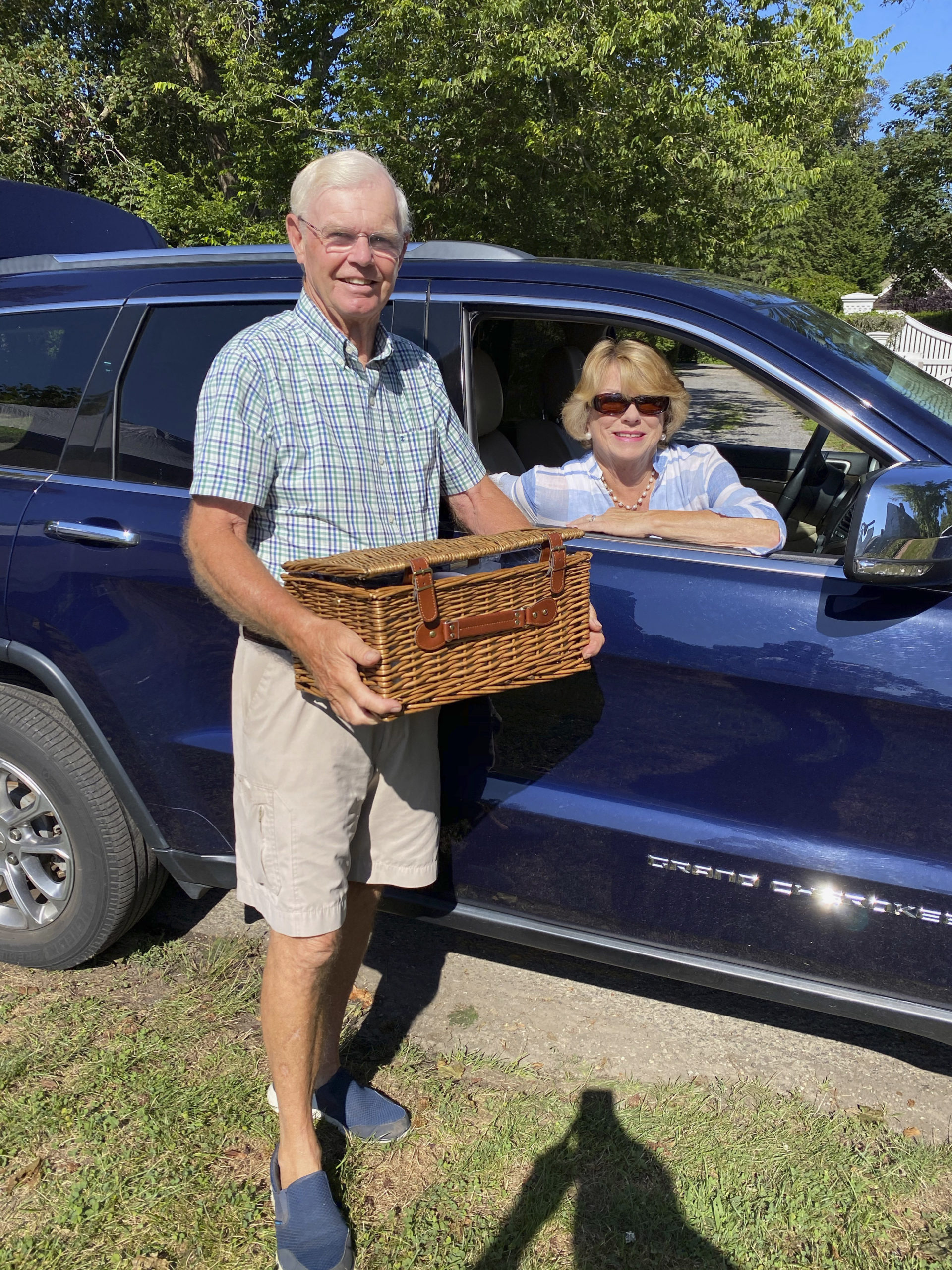Bob and Linda Beck at the Halsey House Picnic Basket event on Saturday.