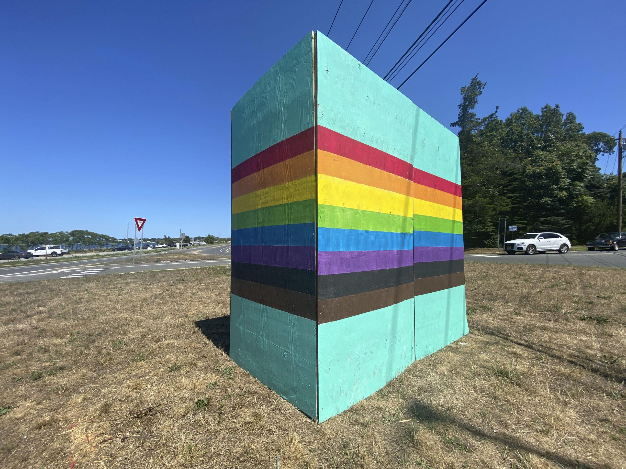 The rainbow tower in Sag Harbor.   DANA SHAW
