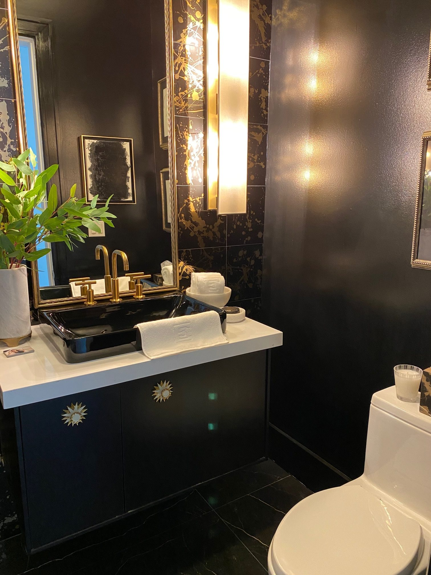 Powder room by Elan Designs