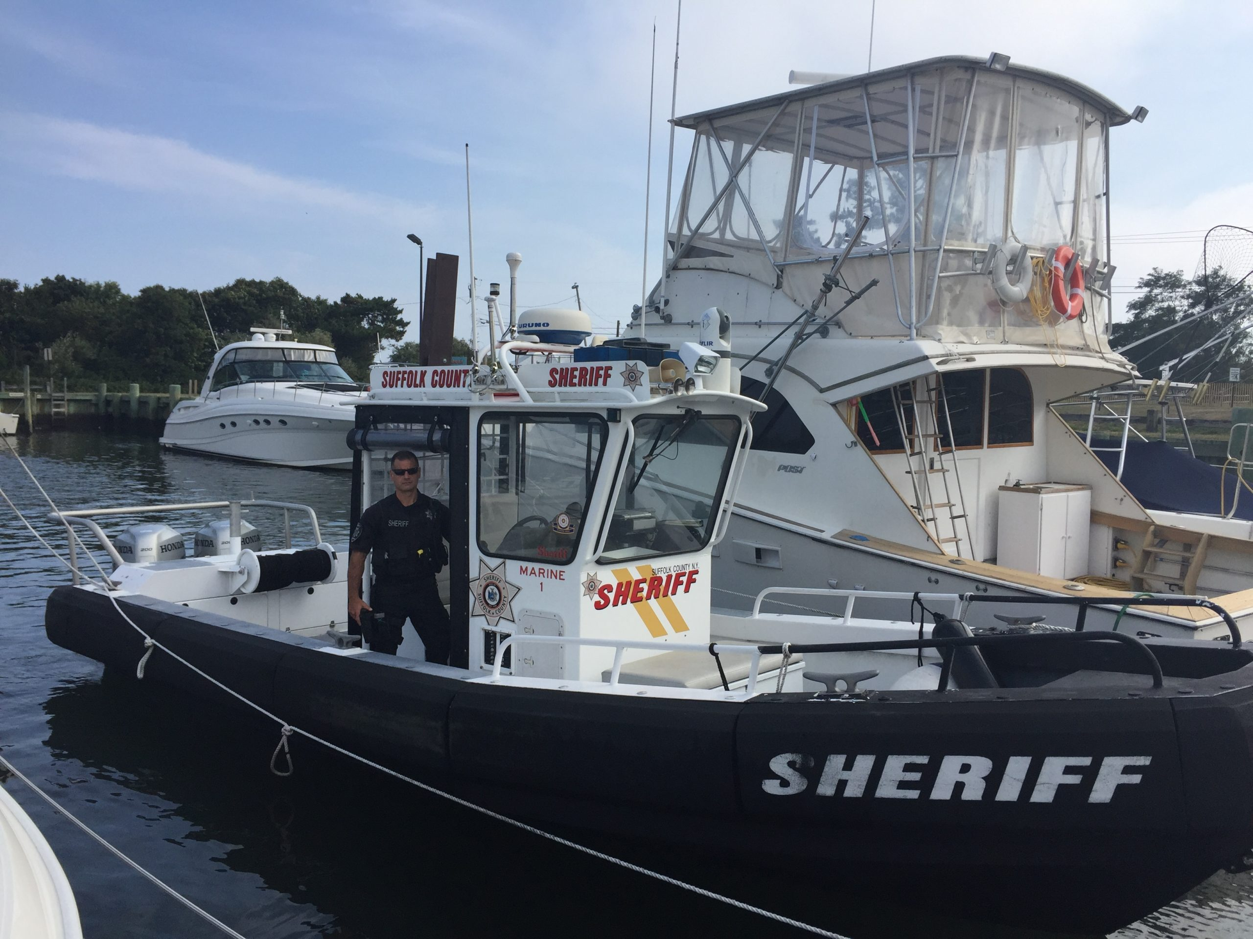 Deputy Sheriff Thomas Lyons on Marine 1.
