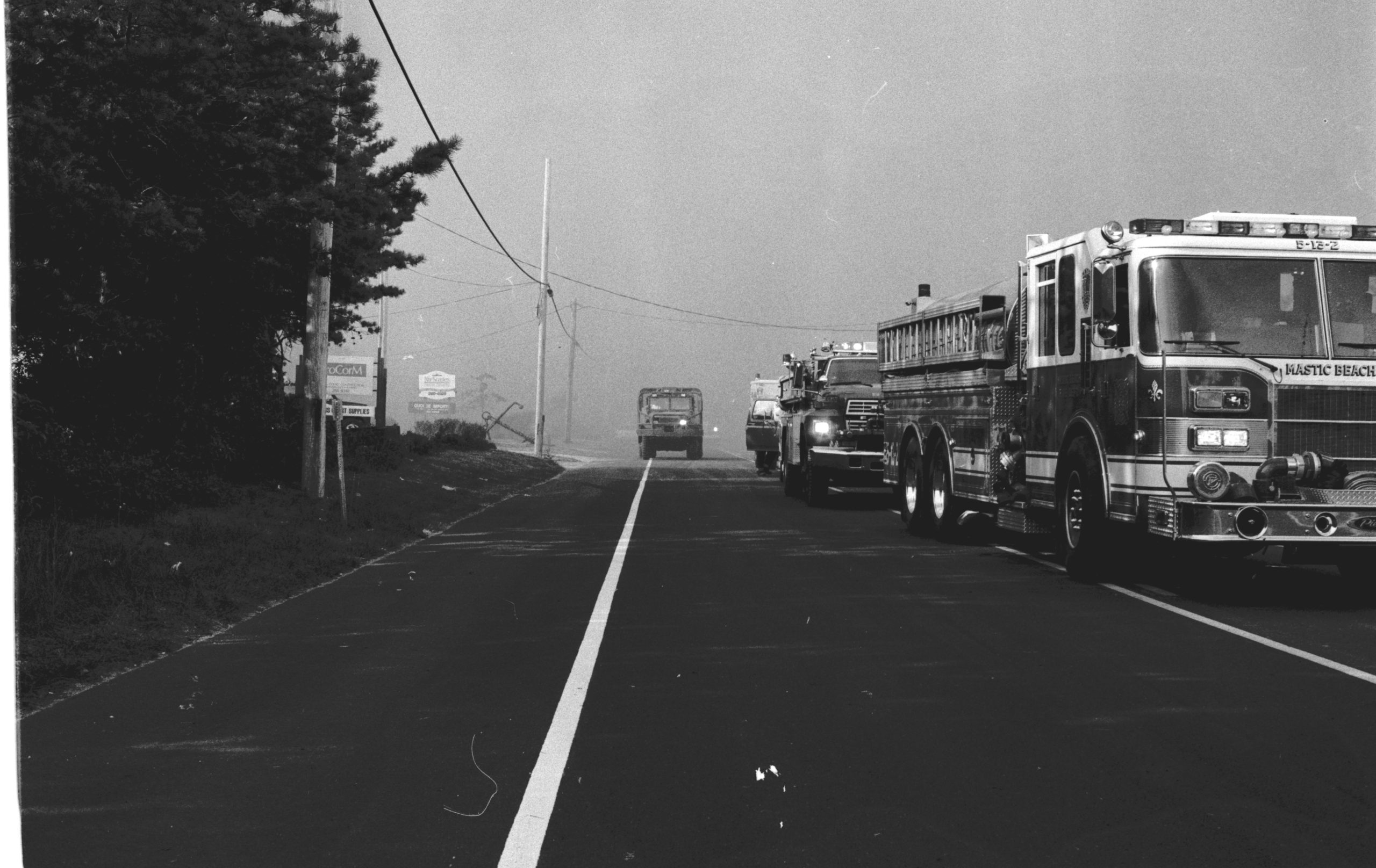 The Westhampton wildfire in 1995.  PRESS FILE