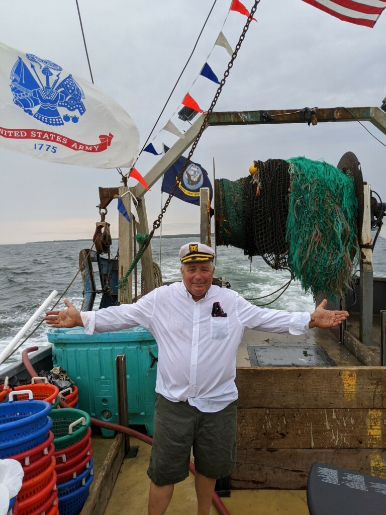 Chuck Morici, a Montauk commercial fisherman, won and invite to meet the president during the Pro-Trump boat parade on Friday.