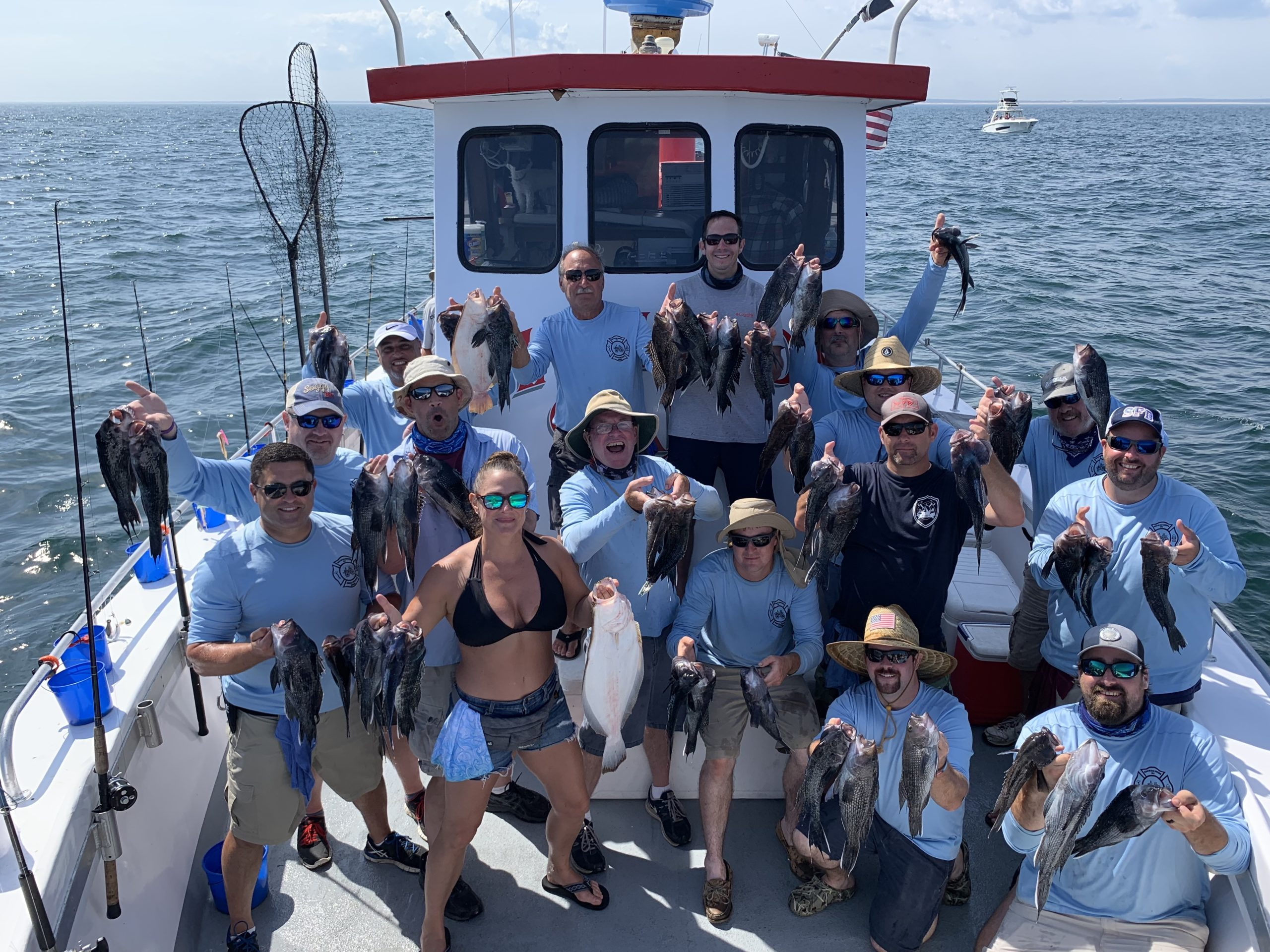 The members of the Southampton Fire Department's Agawam Engine Company held their 11th Annual Richard T. Fowler Memorial Fishing Trip aboard the Hampton Lady on July 25.