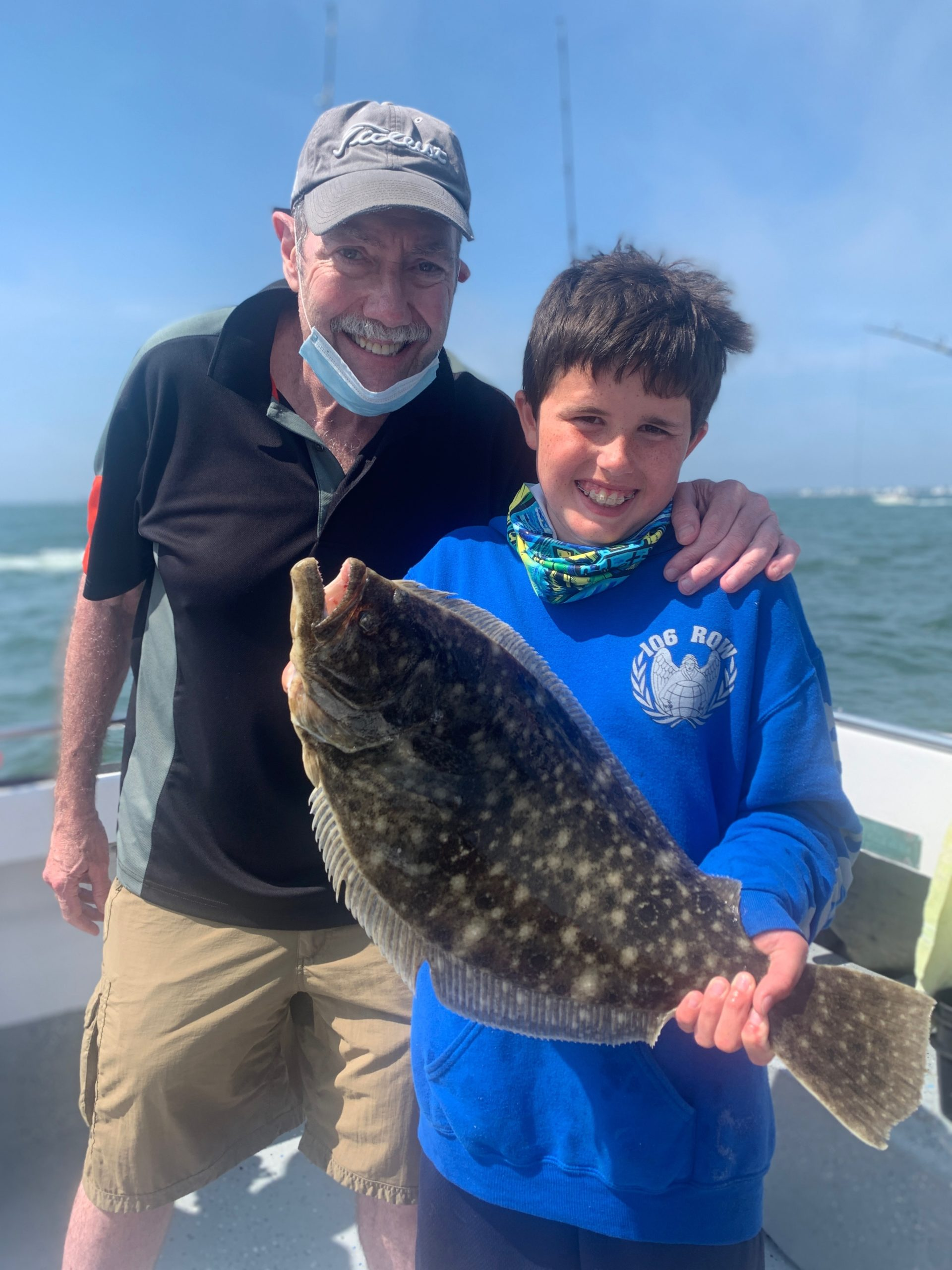 Kevin Kelly and his grandpa, John Spears, got in some fluke fishing aboard the Shinnecock Star recently.