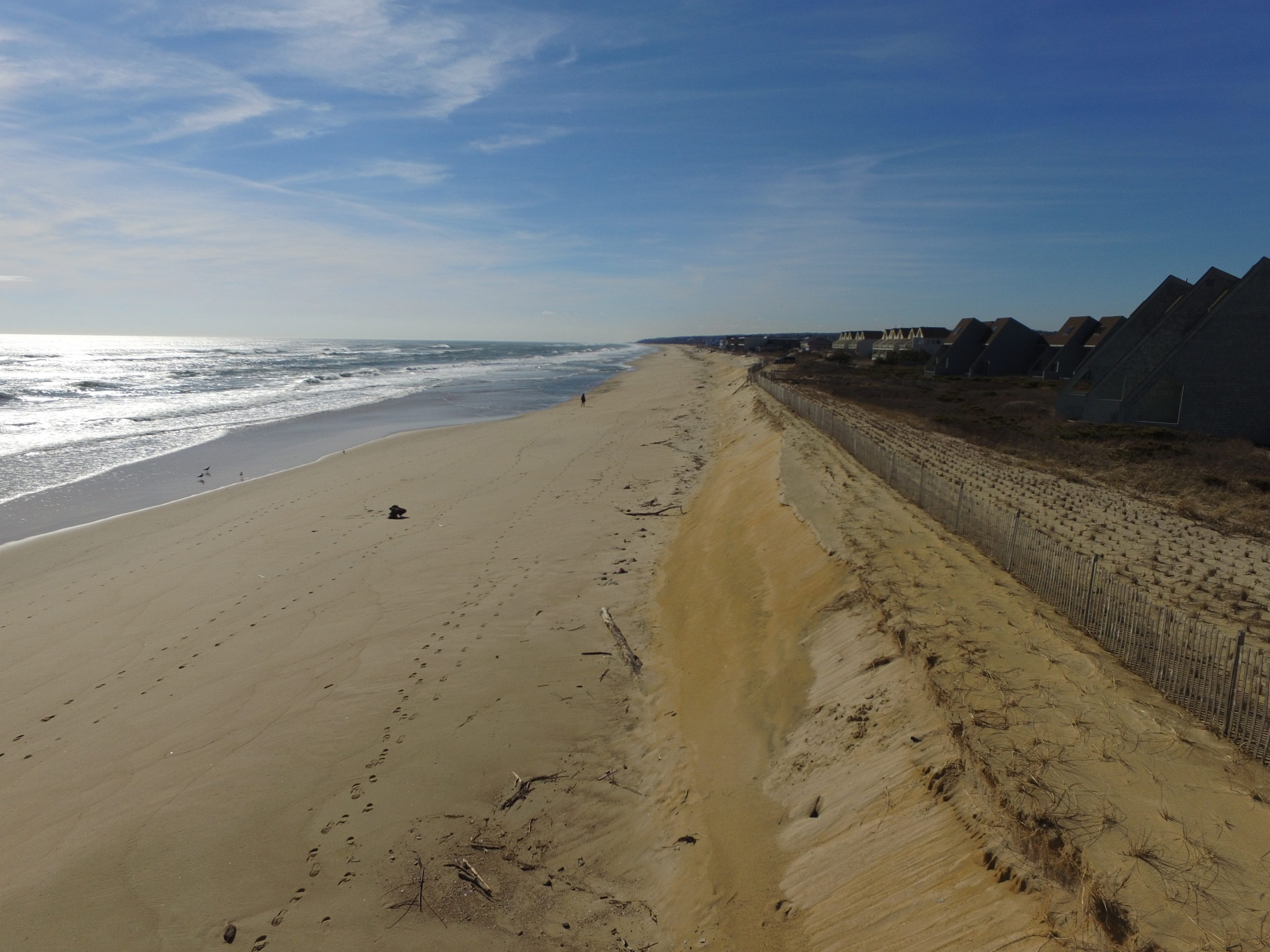 The FIMP plan includes a broad nourishment of the beaches of Montauk, which East Hampton Town is trying to bolster with additonal funding of its own.