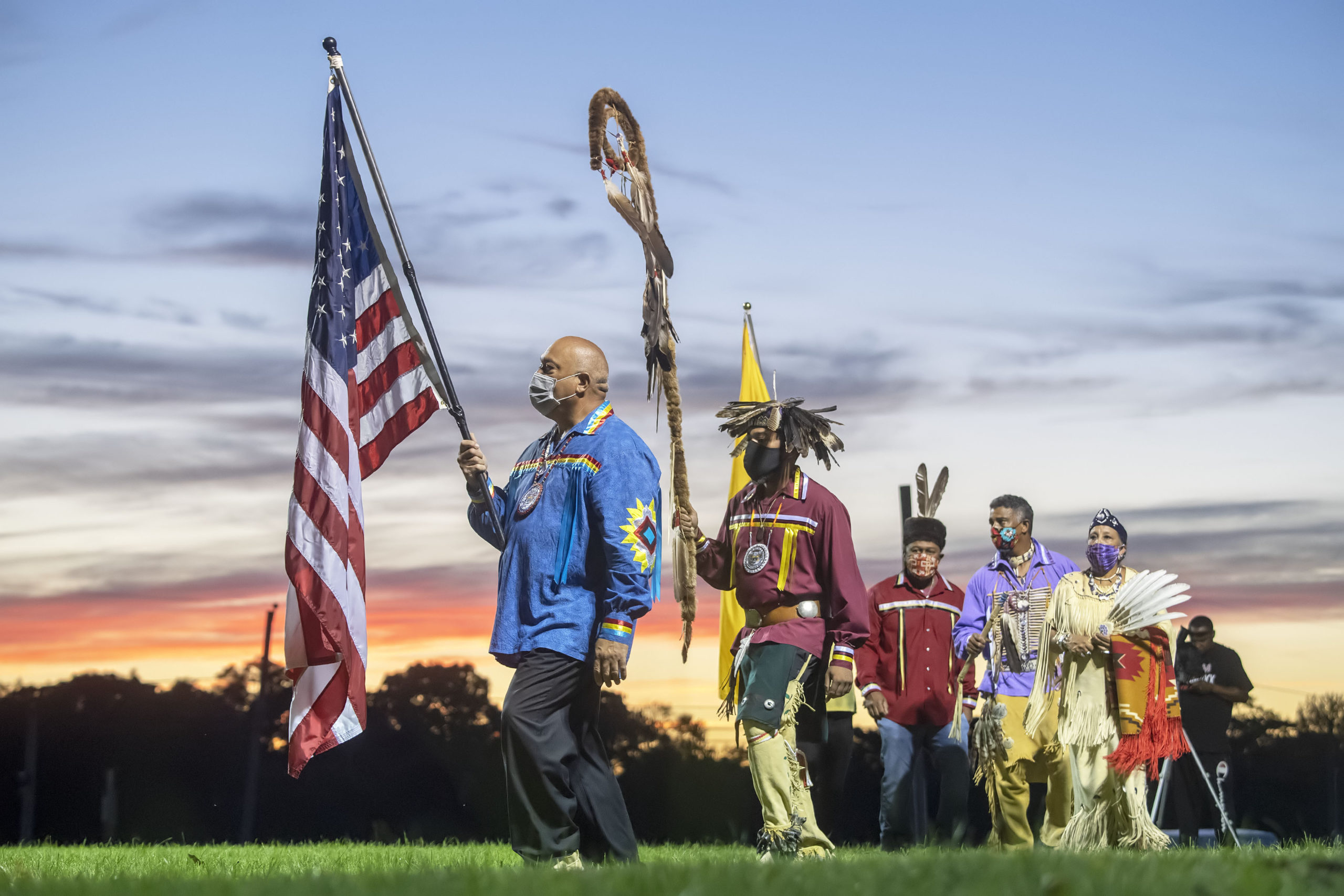 The opening ceremony of the 74th annual Shinnecock Indian Powwow. Express File