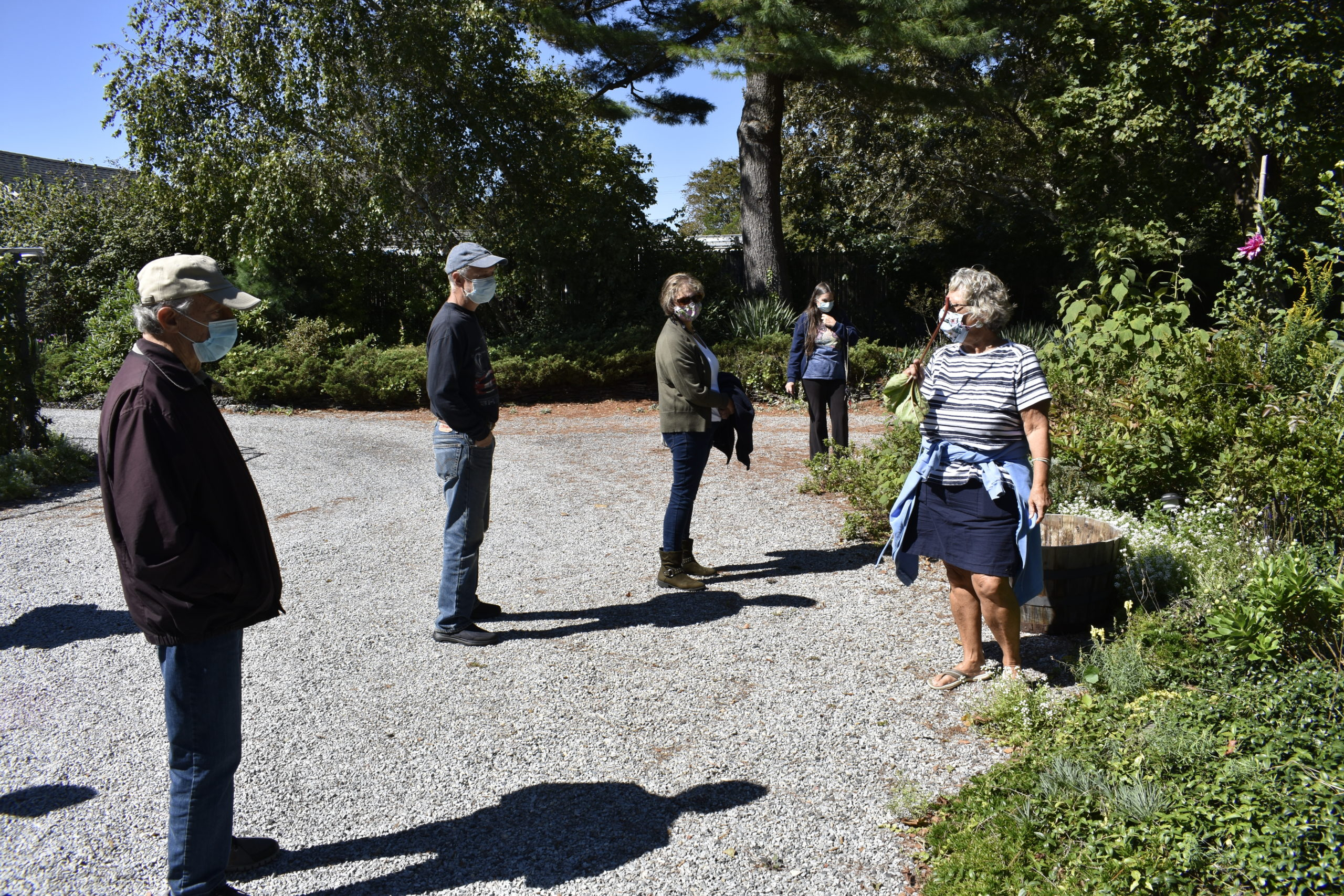 Marie Kinneary gives a tour of her garden.