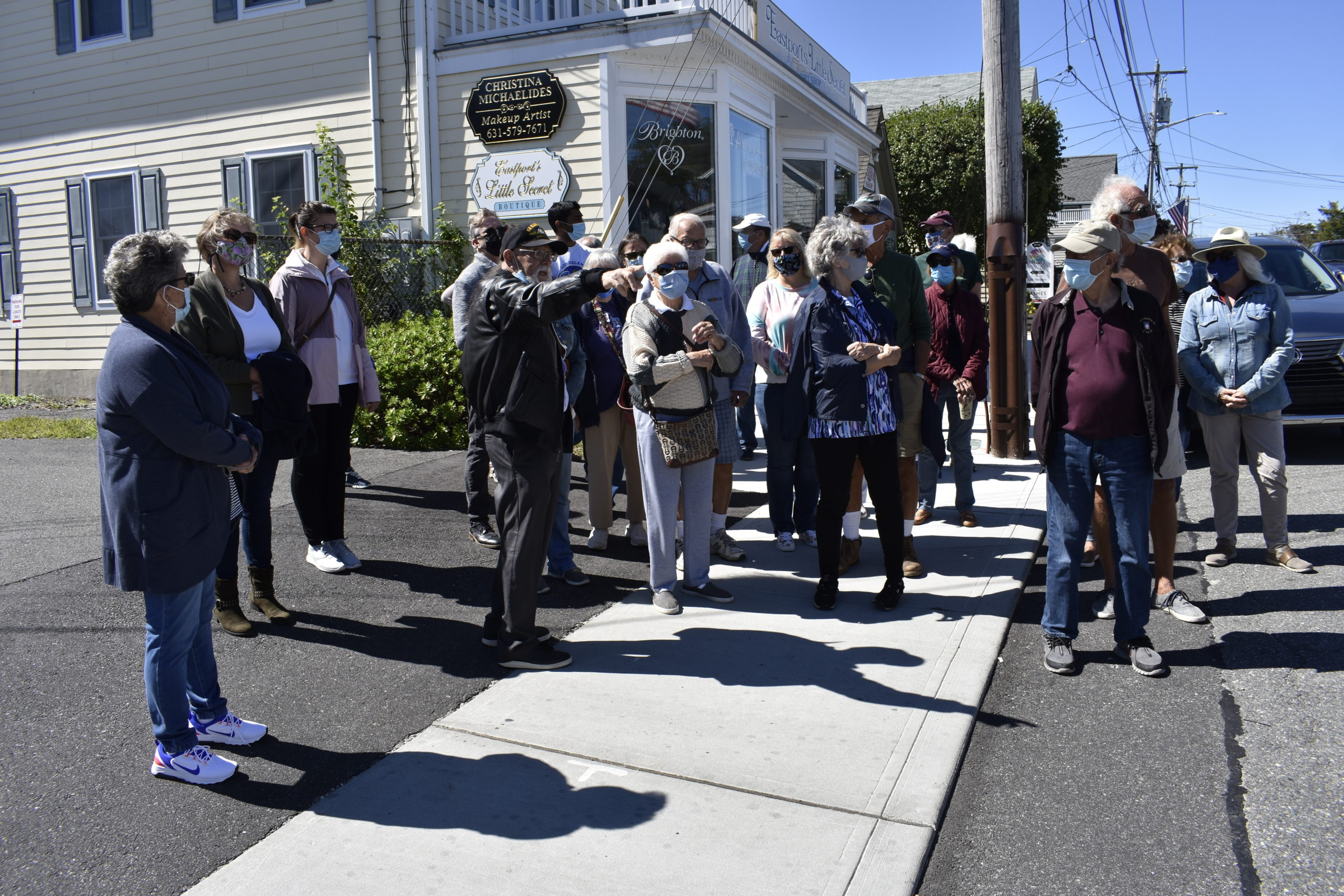 Ron Michne leads a walking tour of Eastport's history.